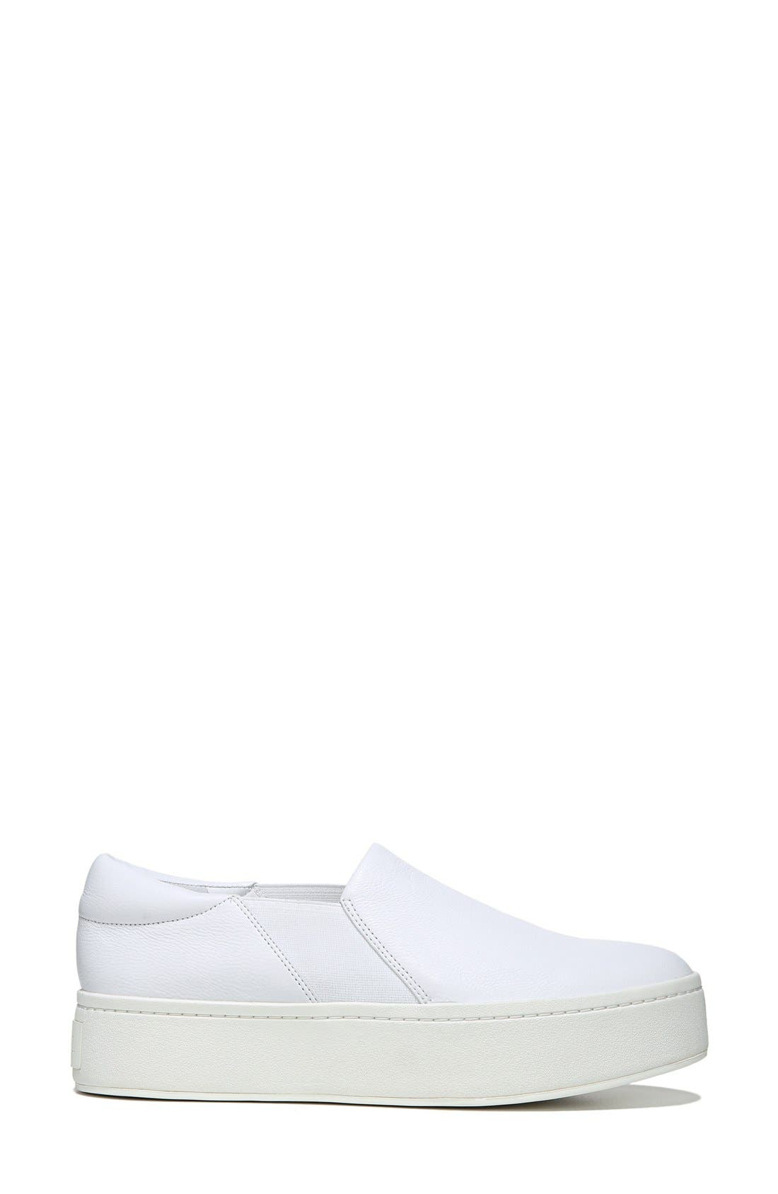 VINCE, Warren Slip-On Sneaker, Alternate thumbnail 2, color, PLASTER LEATHER