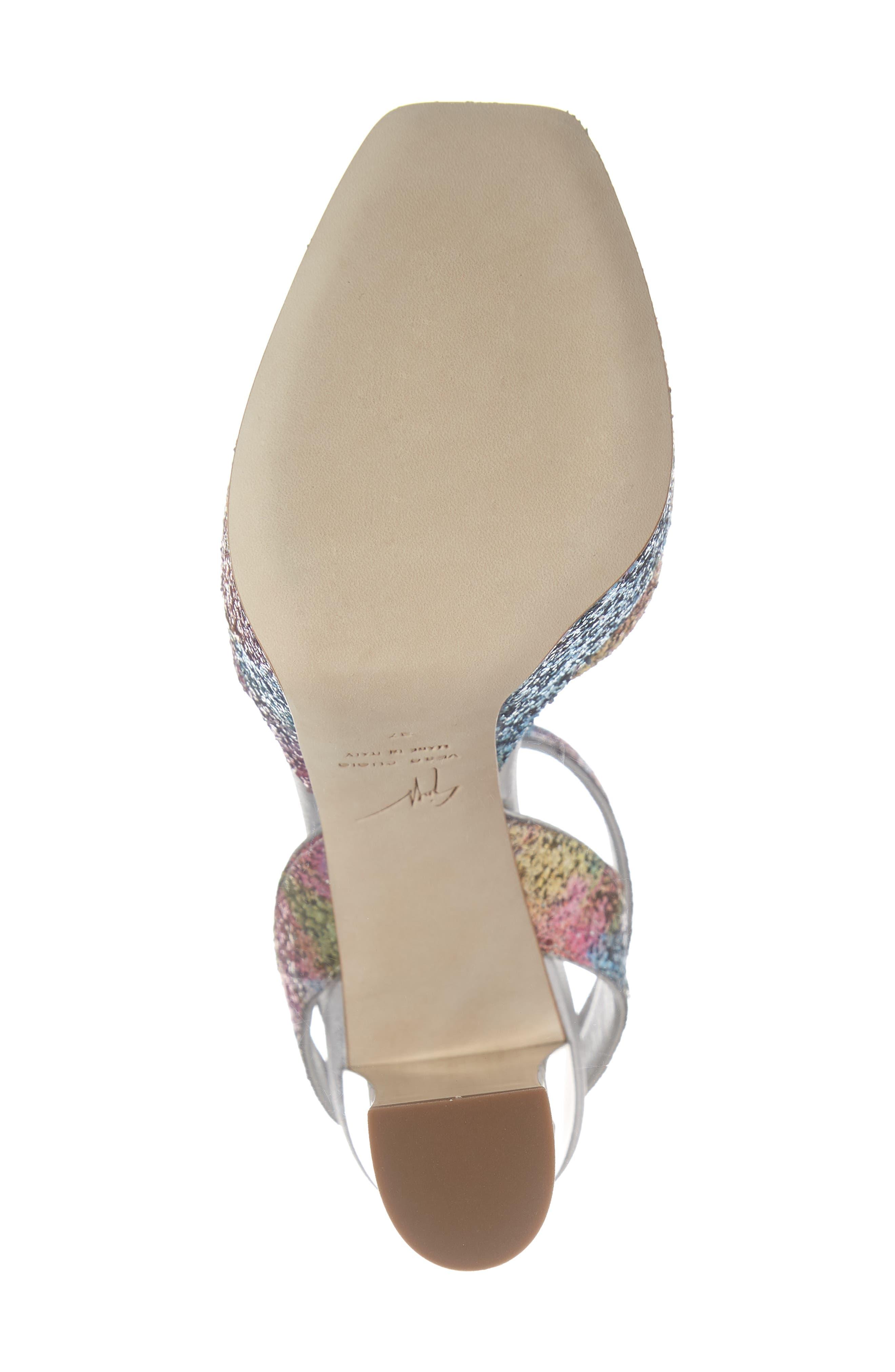 GIUSEPPE ZANOTTI, Lavinia Platform Sandal, Alternate thumbnail 6, color, MULTI GLITTER