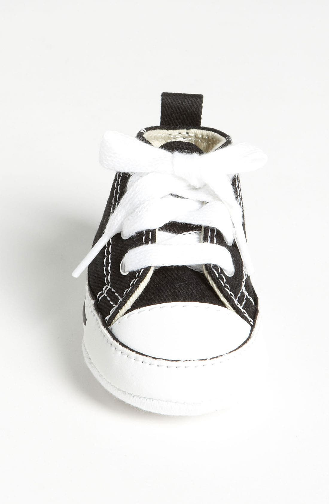CONVERSE, Chuck Taylor<sup>®</sup> Crib Sneaker, Alternate thumbnail 3, color, BLACK