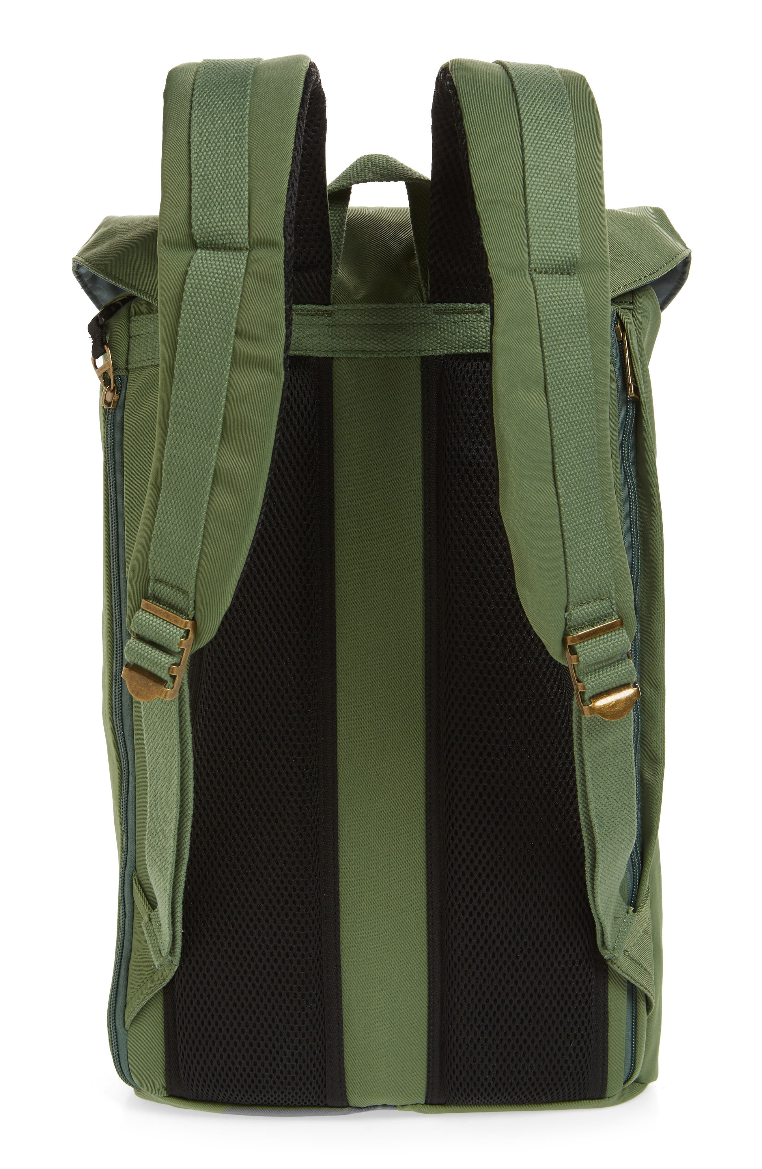 DOUGHNUT, Heritage Water Repellent Backpack, Alternate thumbnail 3, color, ARMY