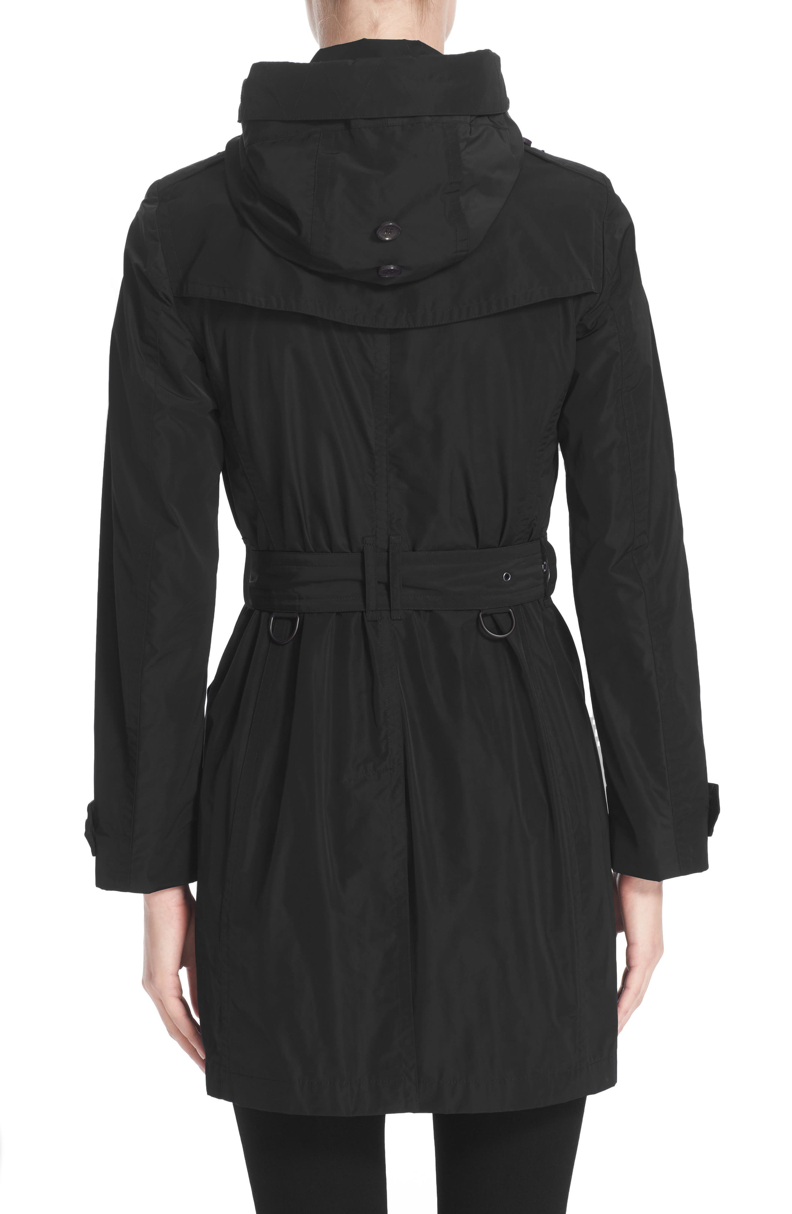 BURBERRY, Balmoral Packable Trench, Alternate thumbnail 4, color, 001