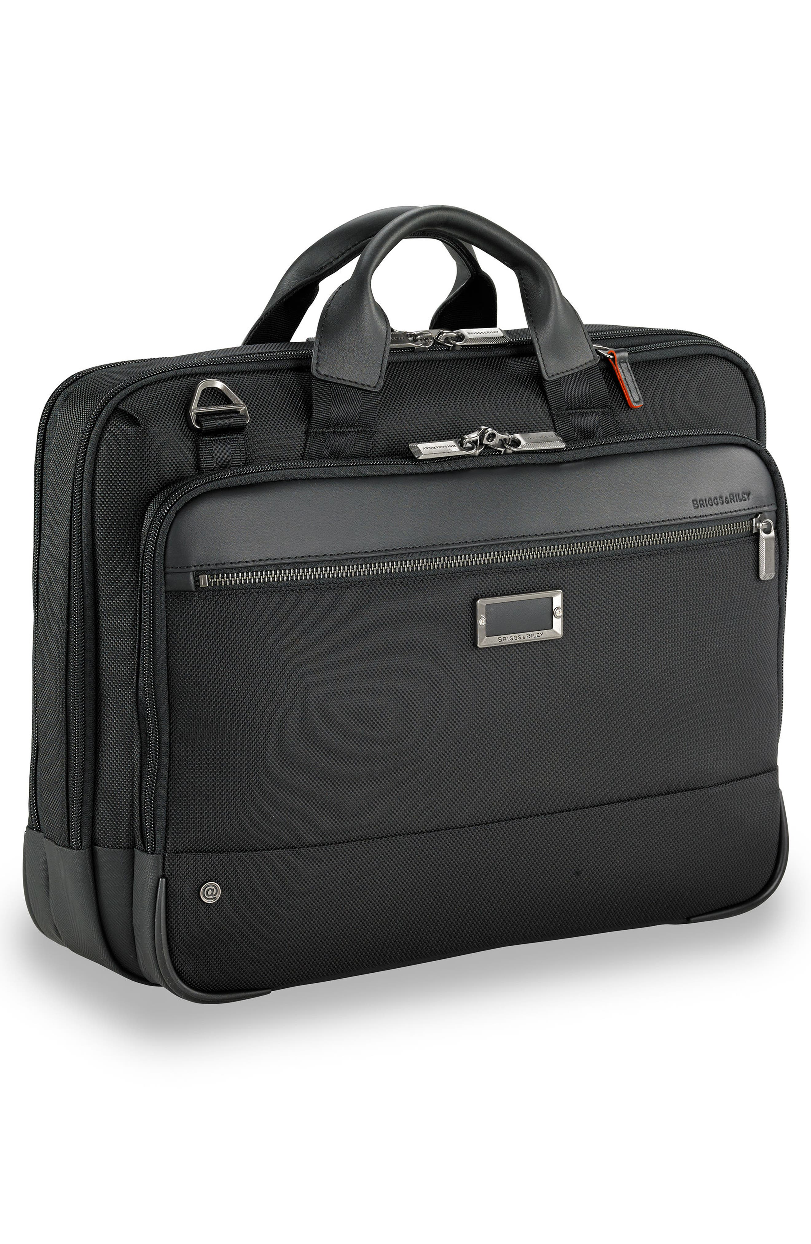 BRIGGS & RILEY, @work Medium Briefcase, Alternate thumbnail 3, color, BLACK