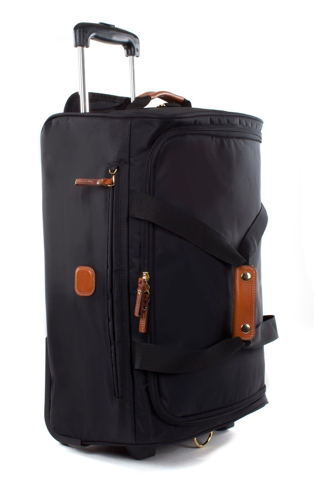 BRIC'S, Brics X-Bag 21-Inch Rolling Carry-On Duffle Bag, Alternate thumbnail 2, color, BLACK