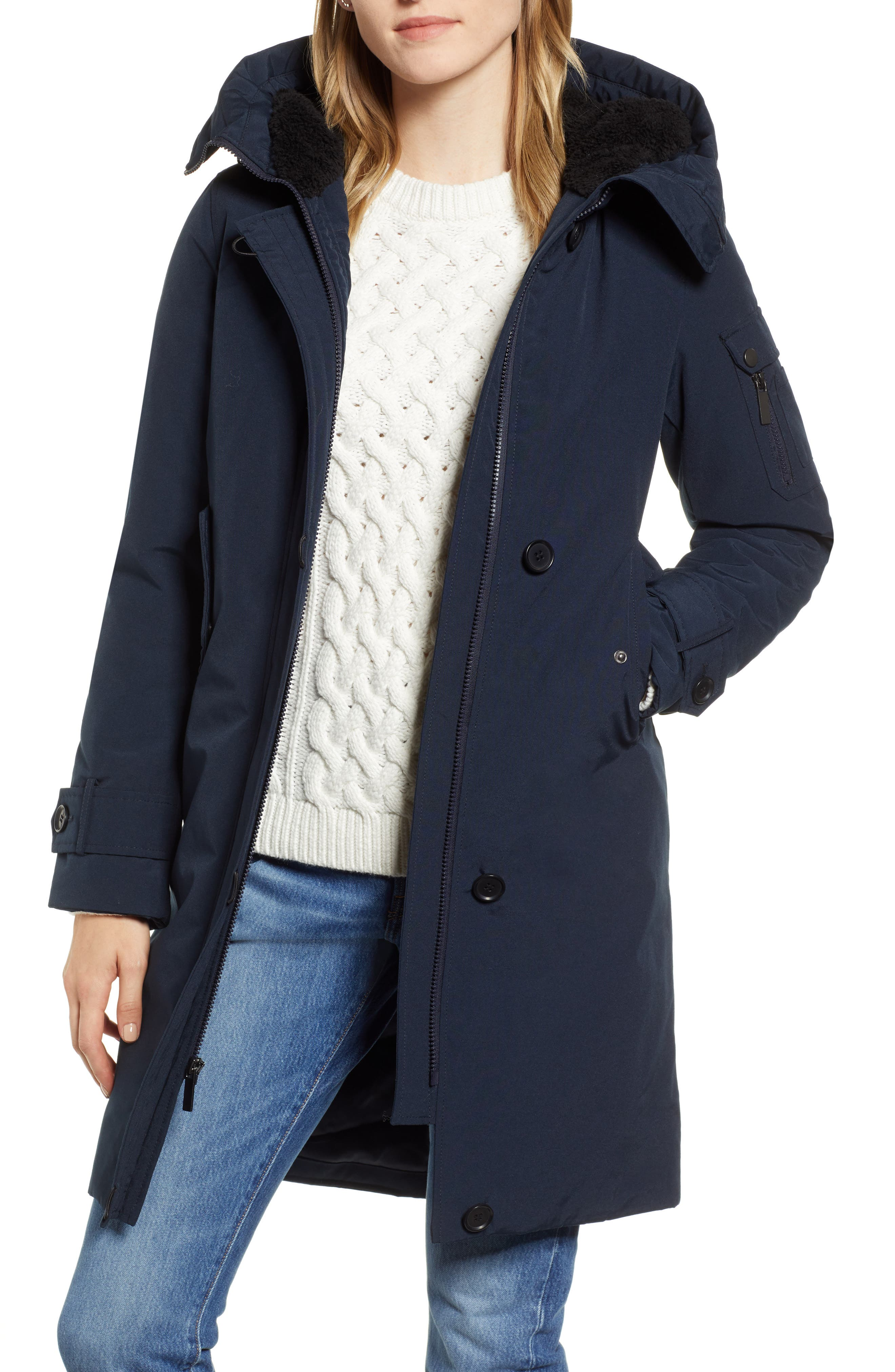 HALOGEN<SUP>®</SUP> Heavyweight Parka, Main, color, NAVY