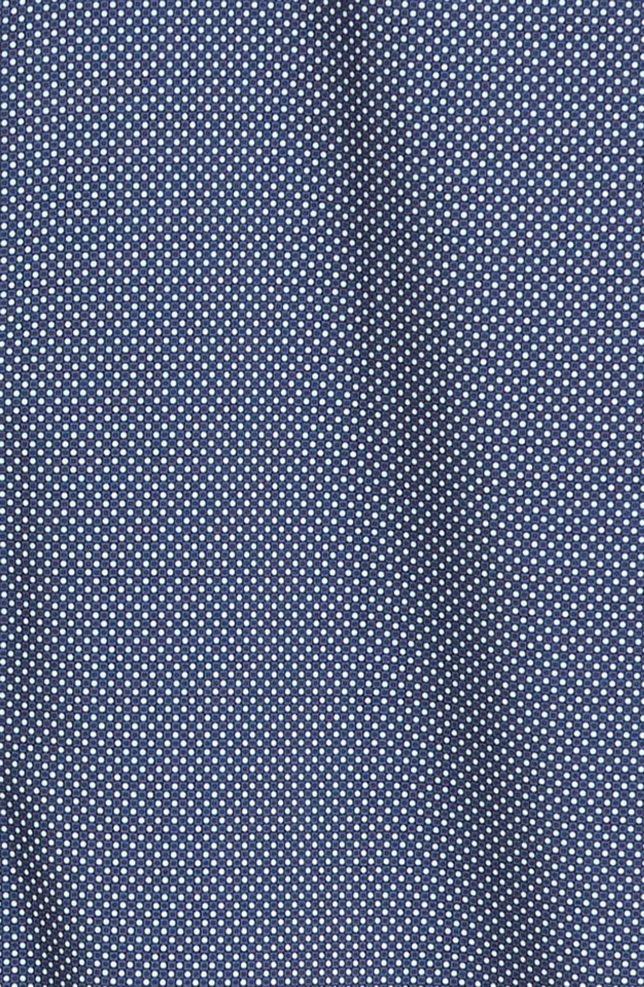 MIZZEN+MAIN, Murray Trim Fit Plaid Performance Sport Shirt, Alternate thumbnail 6, color, NAVY