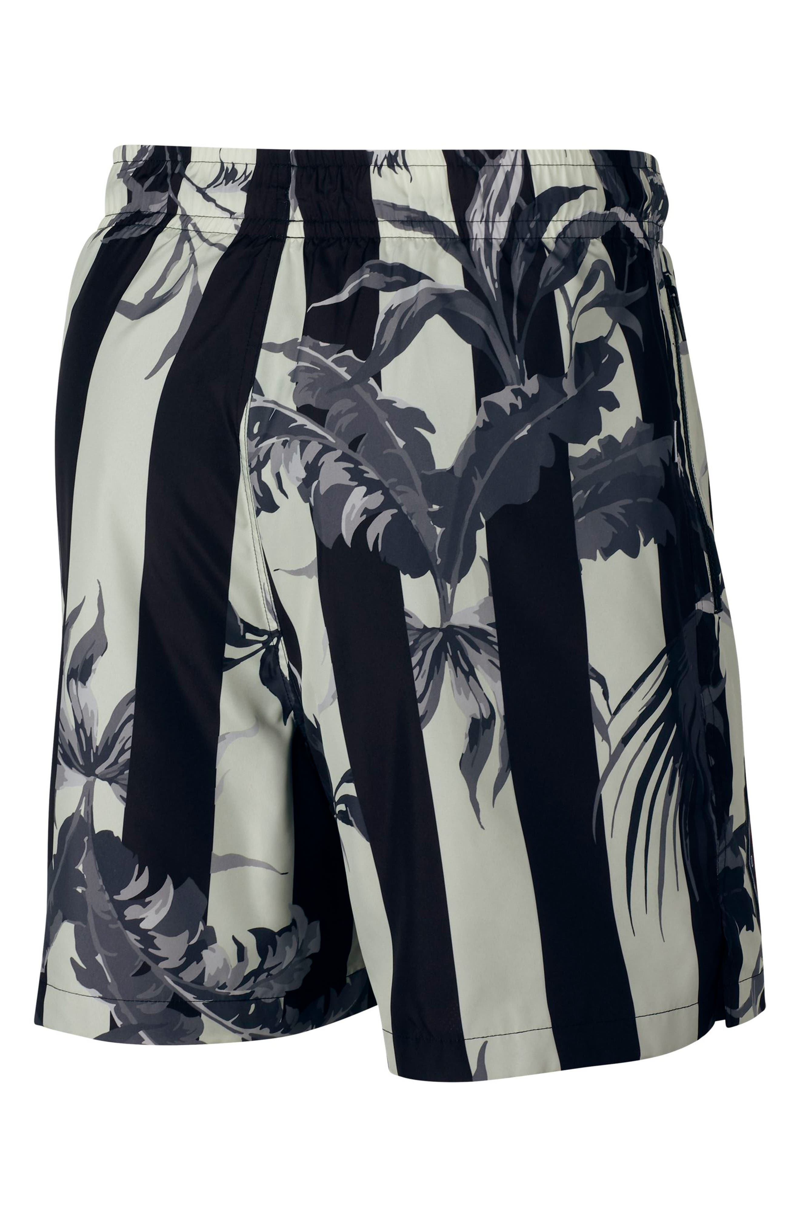 NIKE, Sportswear NSW Men's Shorts, Alternate thumbnail 3, color, BLACK/ WHITE