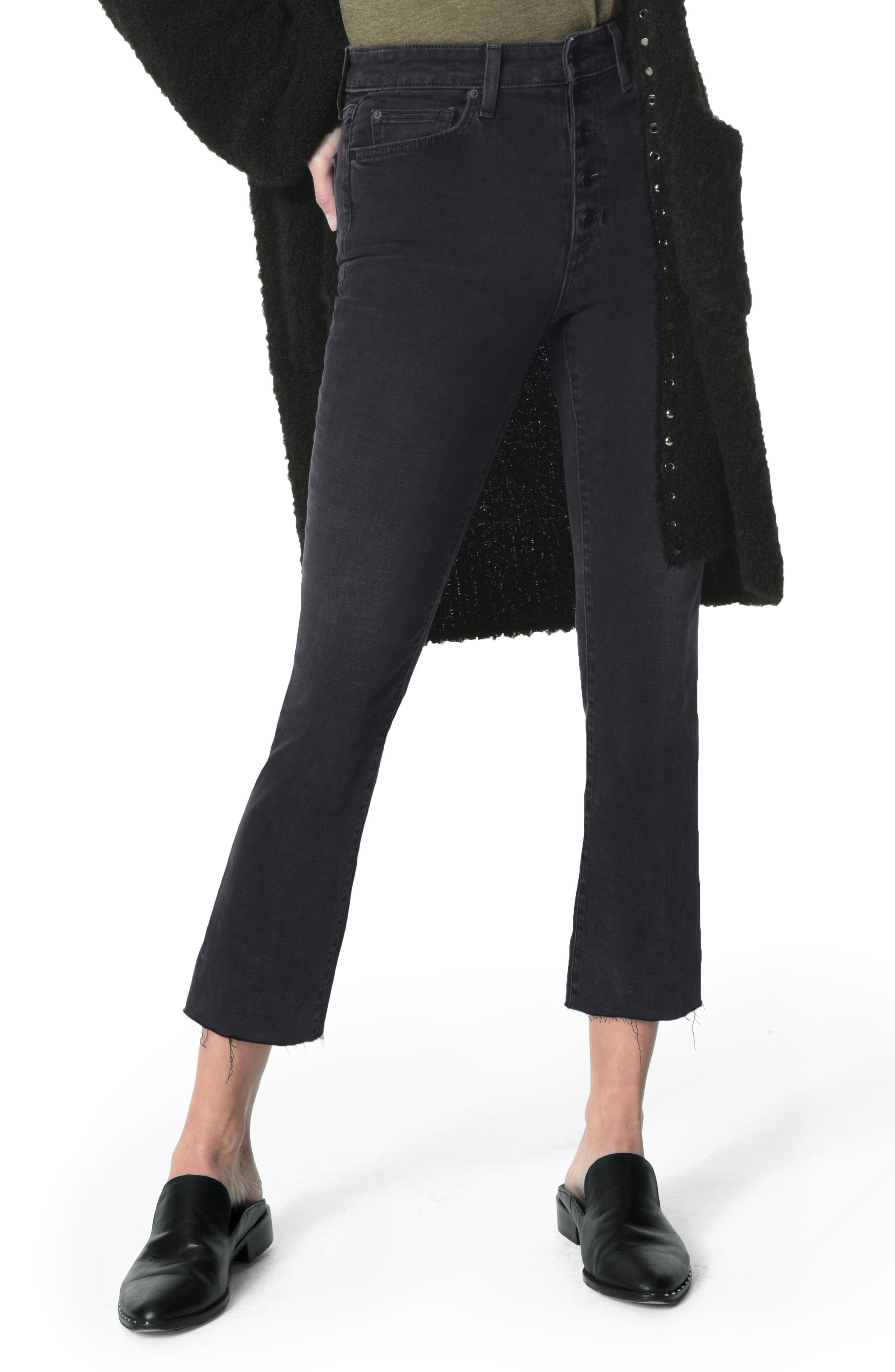 JOE'S The Callie High Waist Crop Flare Jeans, Main, color, 018