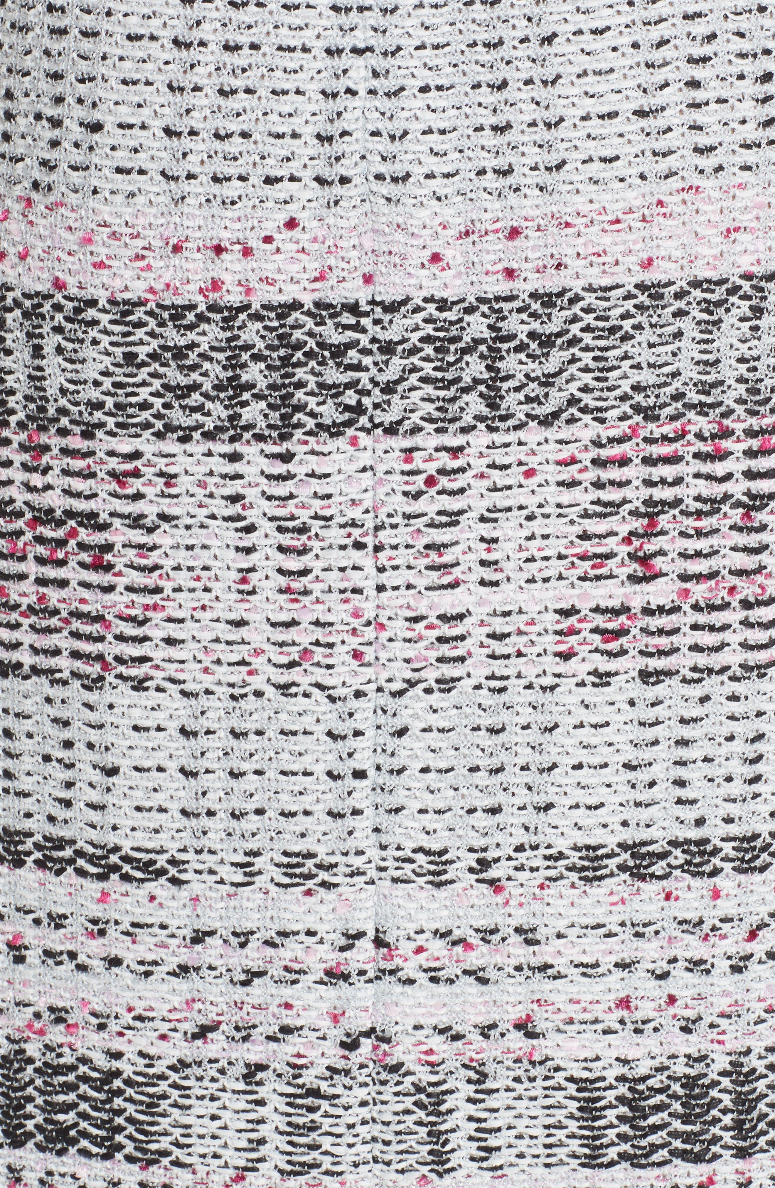 ST. JOHN COLLECTION, Bianca Plaid Knit Sheath Dress, Alternate thumbnail 6, color, GREY MULTI