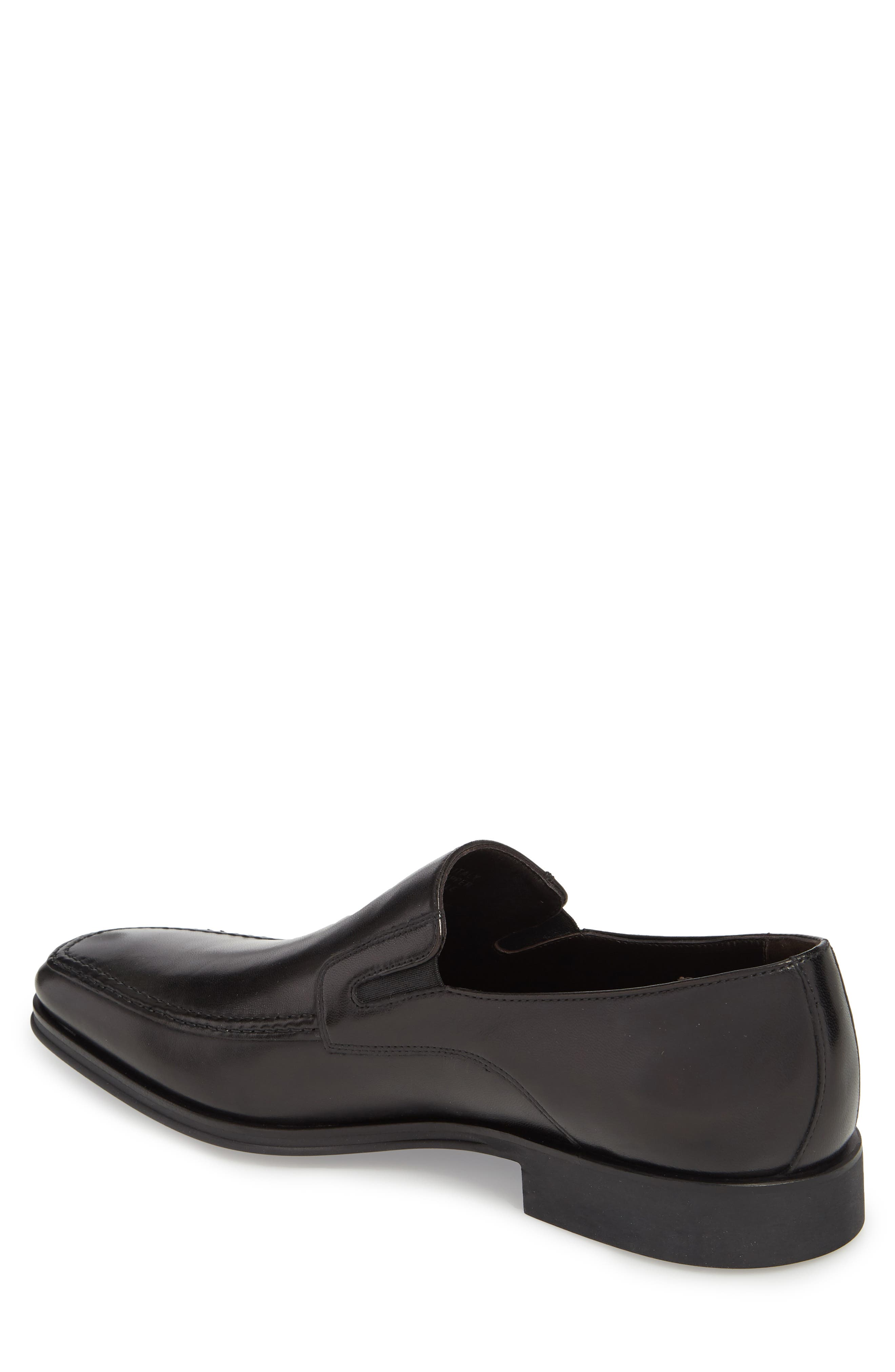 MONTE ROSSO, Lucca Nappa Leather Loafer, Alternate thumbnail 2, color, BLACK