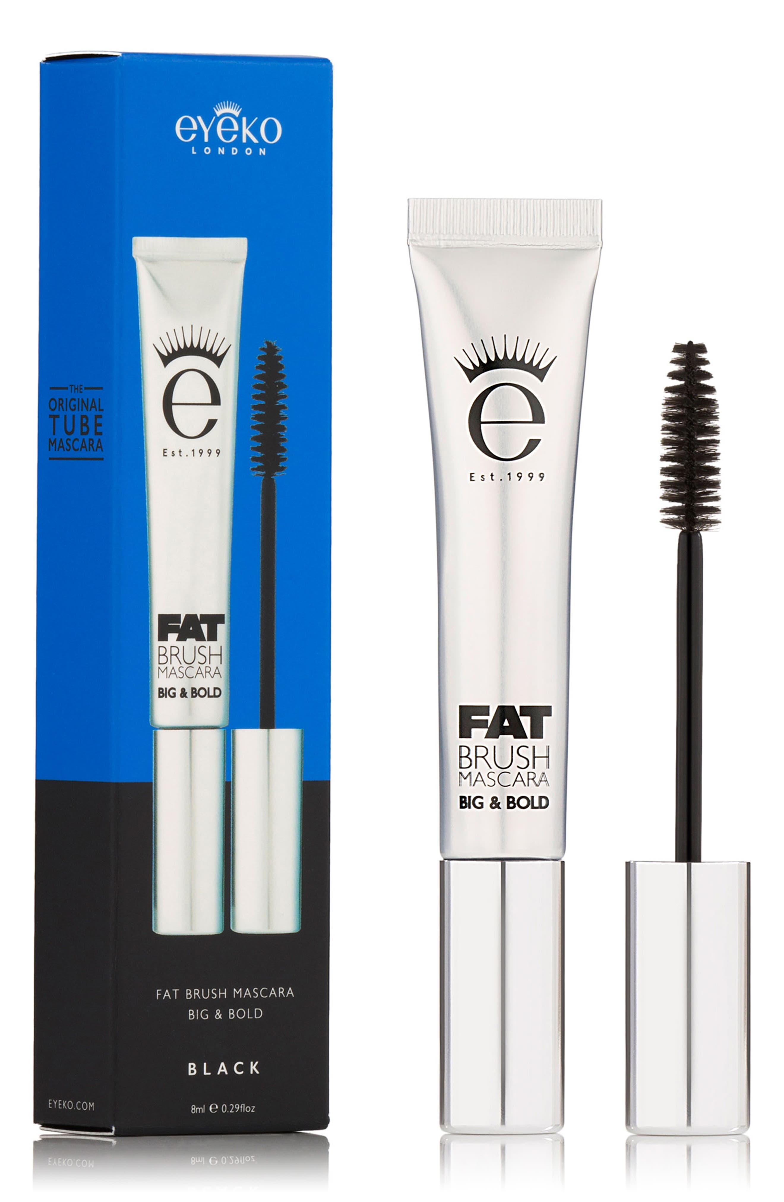 EYEKO, Fat Brush Mascara, Alternate thumbnail 3, color, BLACK