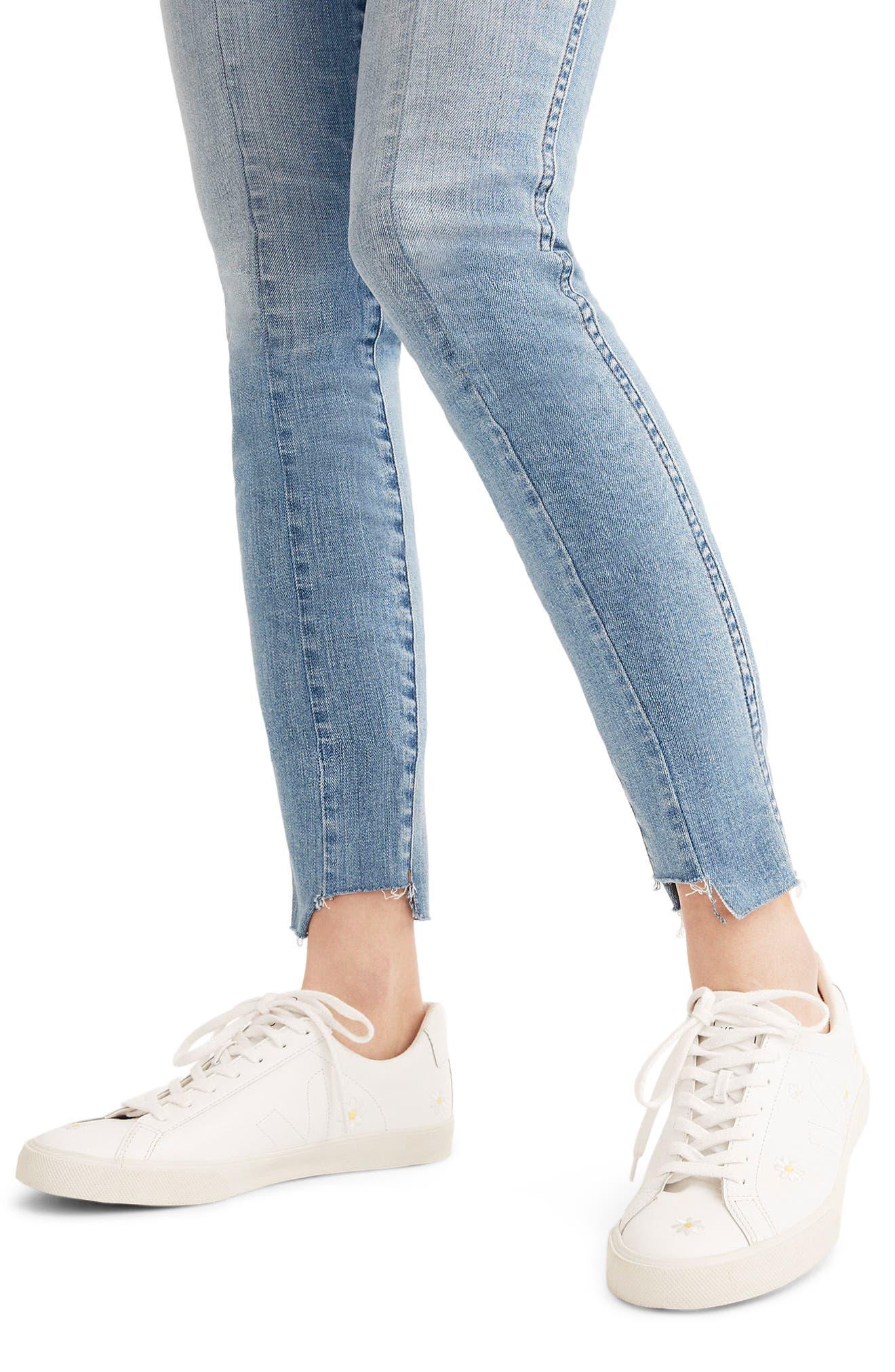MADEWELL, 9-Inch High Waist Seamed Step-Hem Edition Skinny Jeans, Alternate thumbnail 5, color, 400