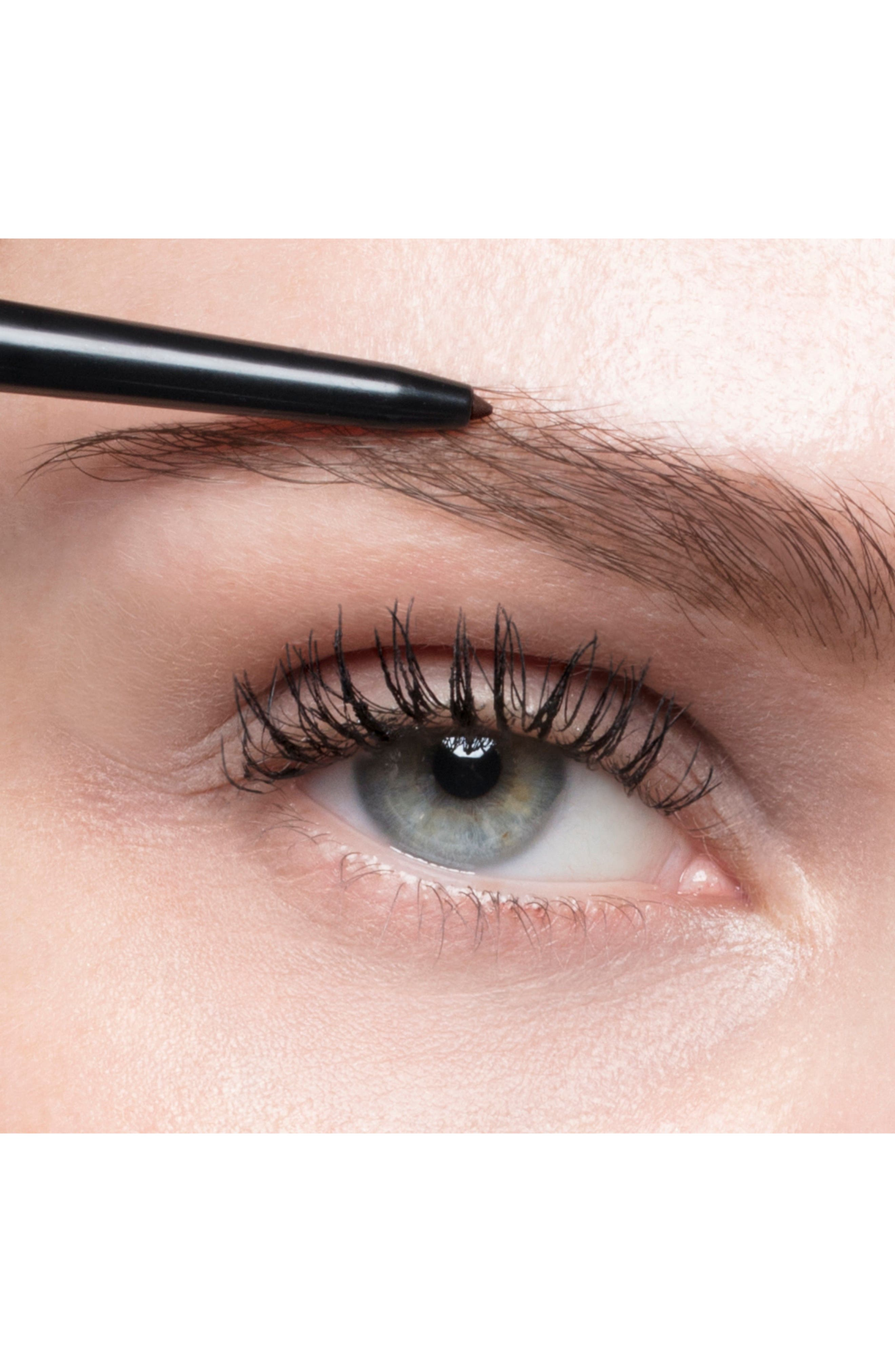 YVES SAINT LAURENT, Couture Brow Slim Eyebrow Pencil, Alternate thumbnail 2, color, 01 ASH BROWN