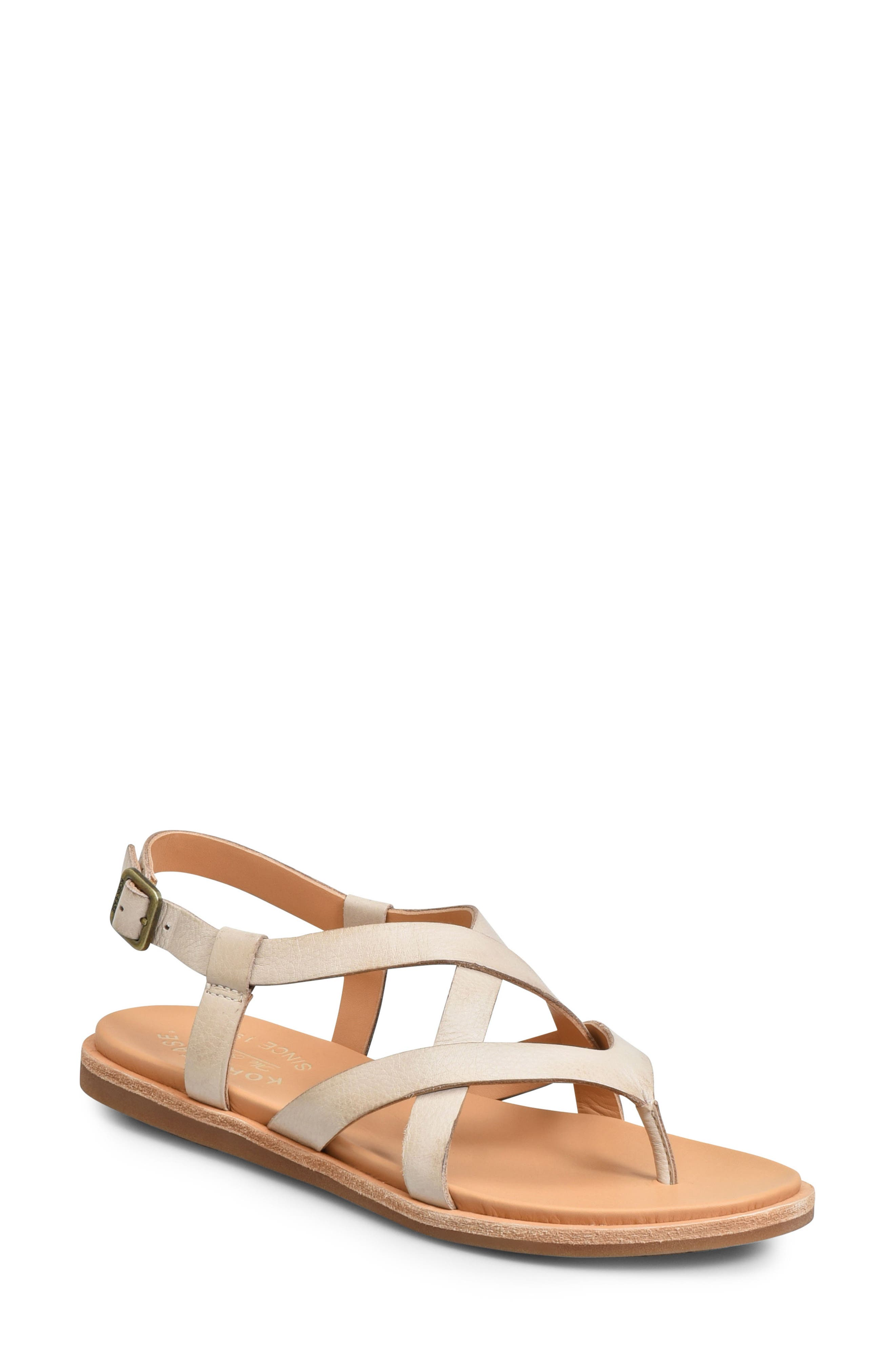 KORK-EASE<SUP>®</SUP>, Yarbrough Sandal, Main thumbnail 1, color, LIGHT GREY LEATHER