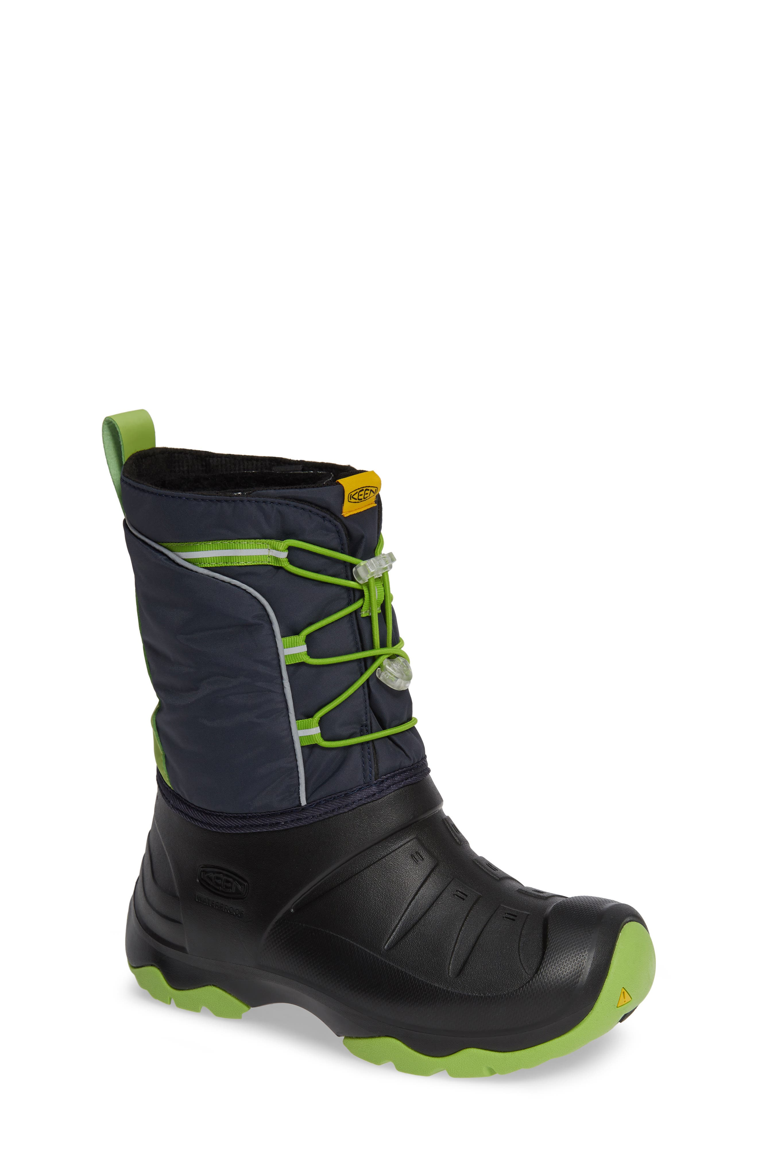 KEEN, Lumi Waterproof Boot, Main thumbnail 1, color, BLUE/ GREENERY