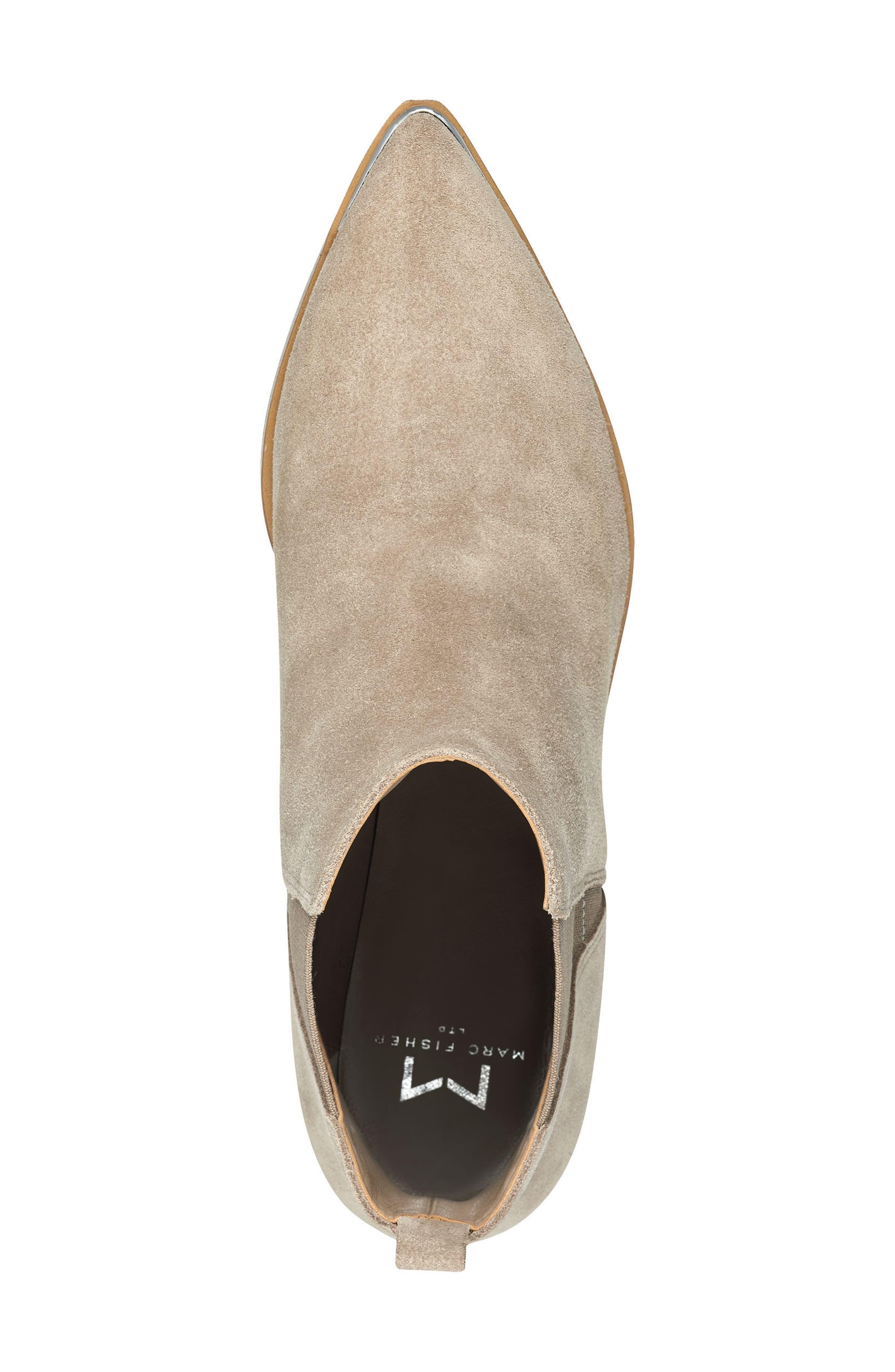 MARC FISHER LTD, 'Yale' Chelsea Boot, Alternate thumbnail 5, color, CLOUD SUEDE