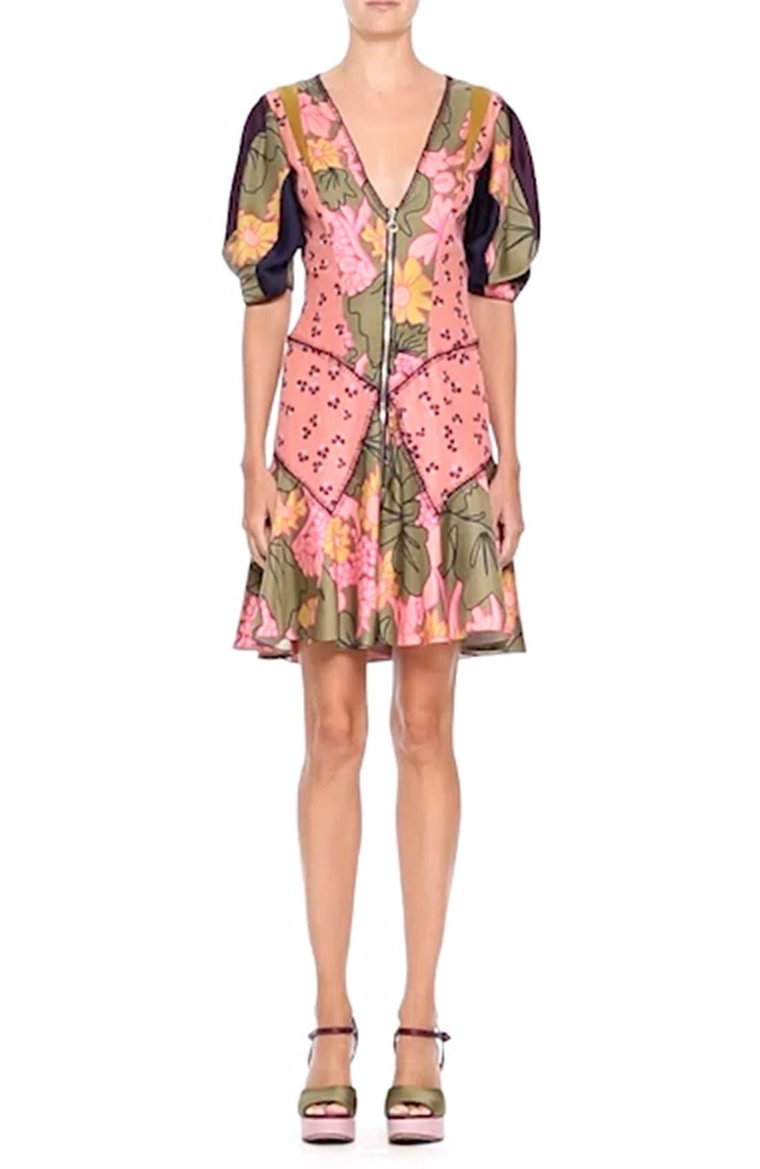 ROKSANDA, Hirani Dress, Alternate thumbnail 7, color, 695