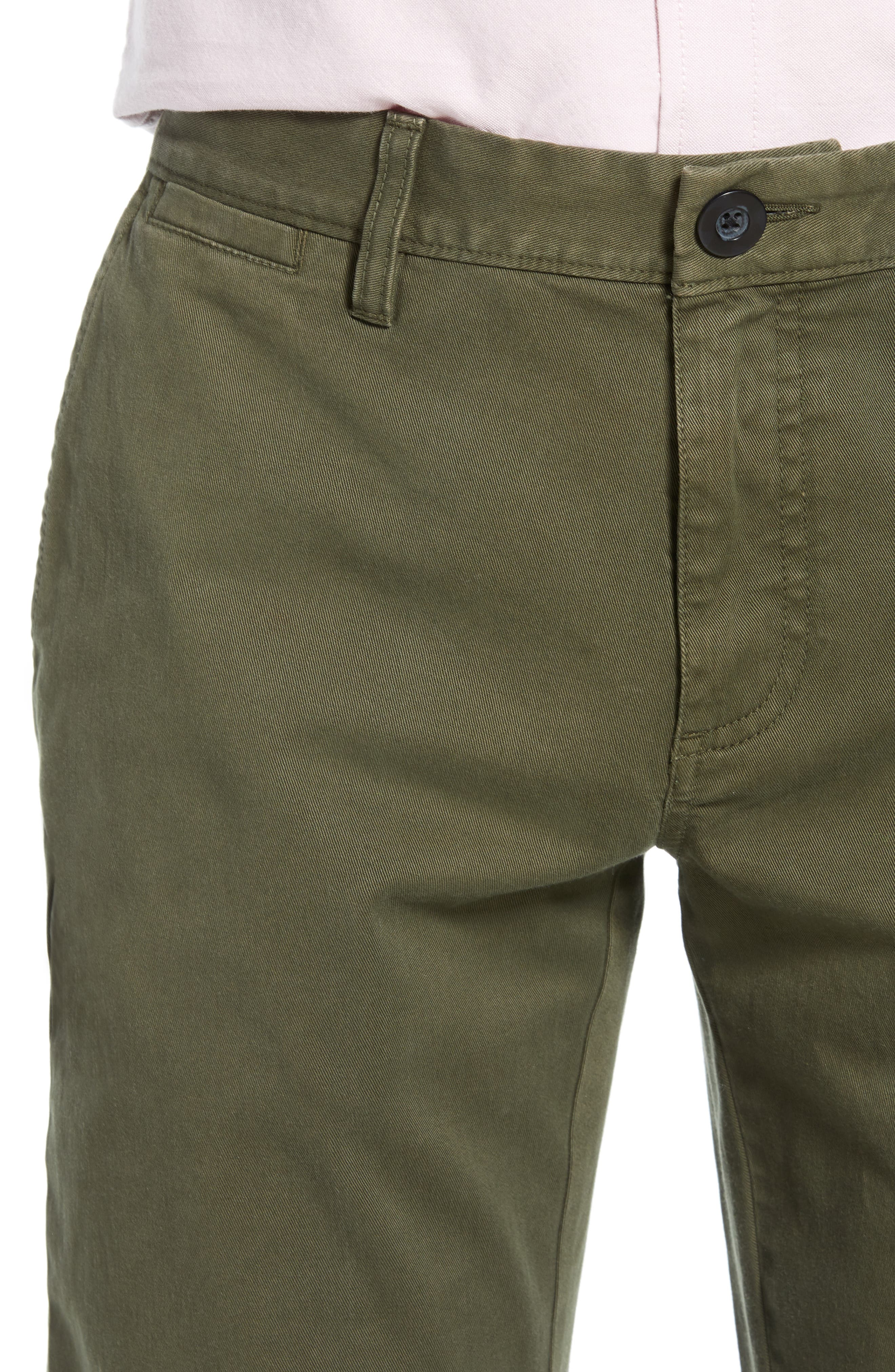 THE RAIL, Slim Fit Chinos, Alternate thumbnail 5, color, OLIVE GROVE