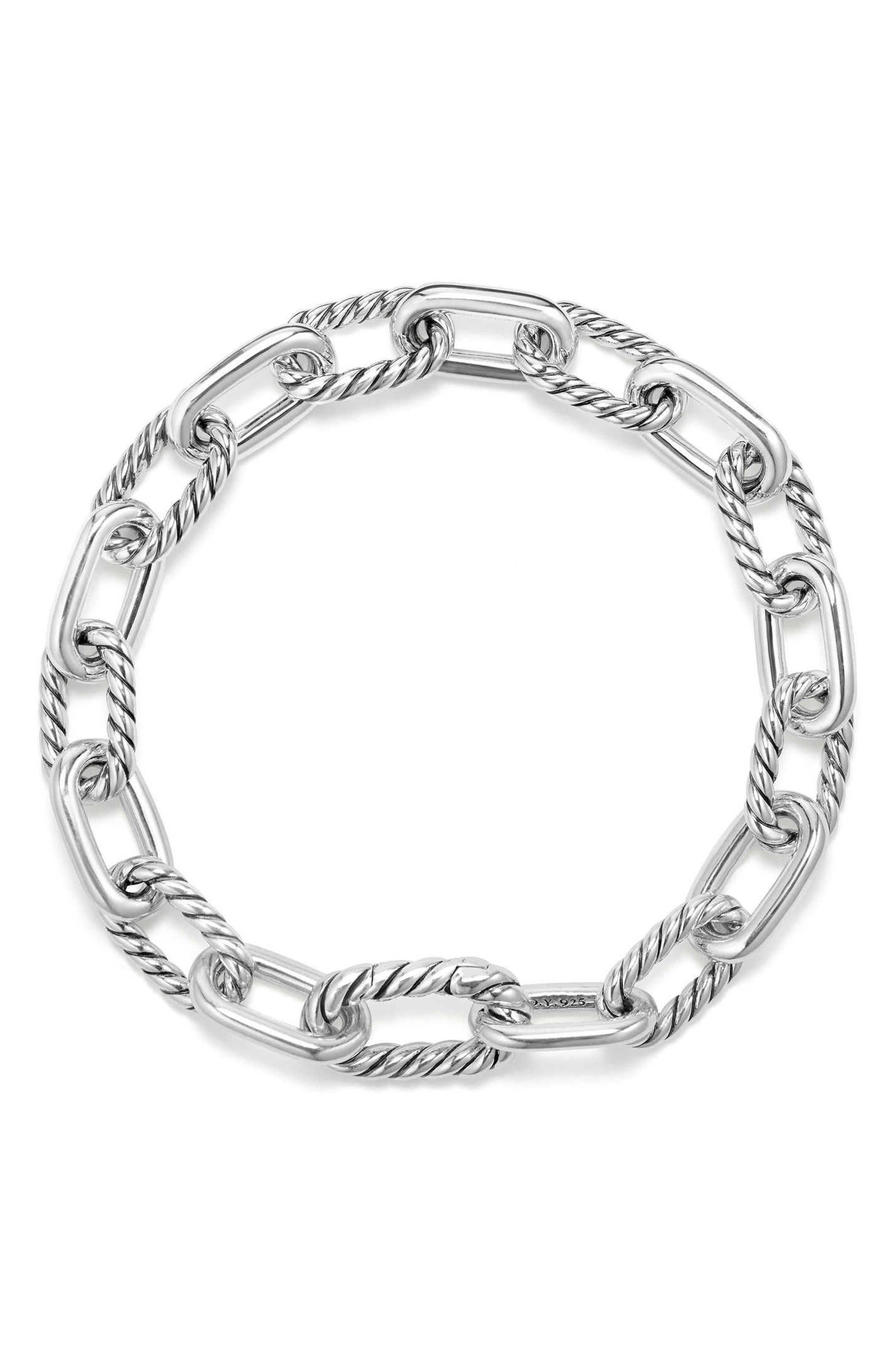DAVID YURMAN, DY Madison Chain Small Bracelet, Alternate thumbnail 3, color, 040