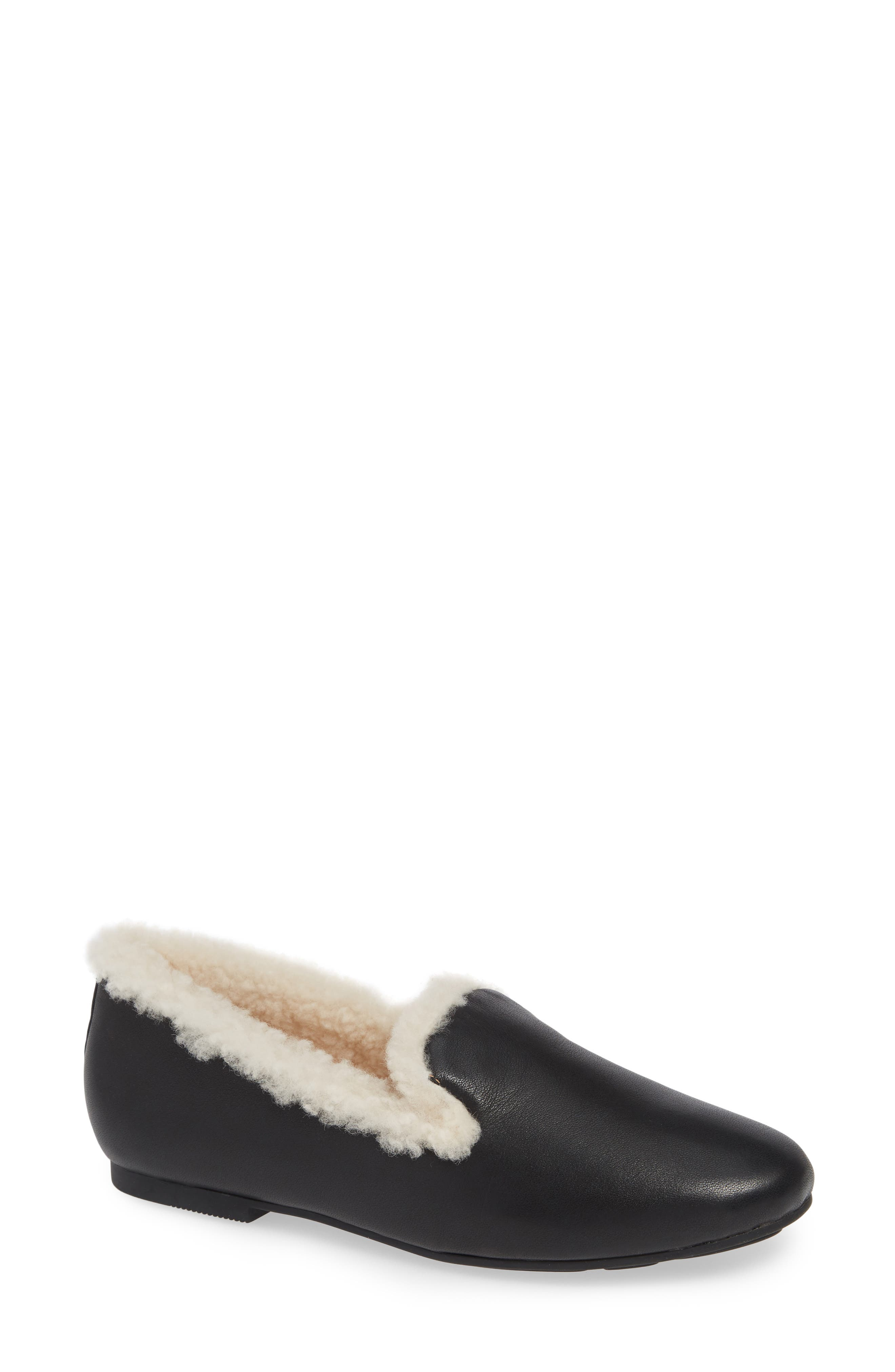 GENTLE SOULS BY KENNETH COLE, Eugene Genuine Shearling Lined Loafer, Main thumbnail 1, color, 011