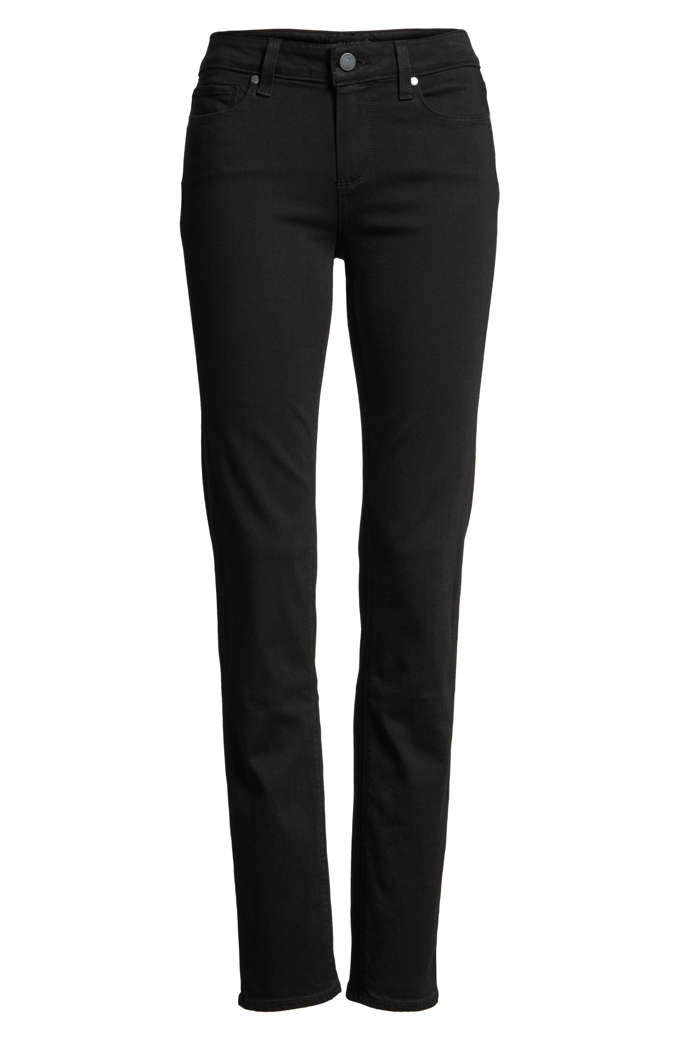 PAIGE, Transcend - Skyline Skinny Jeans, Alternate thumbnail 9, color, BLACK SHADOW