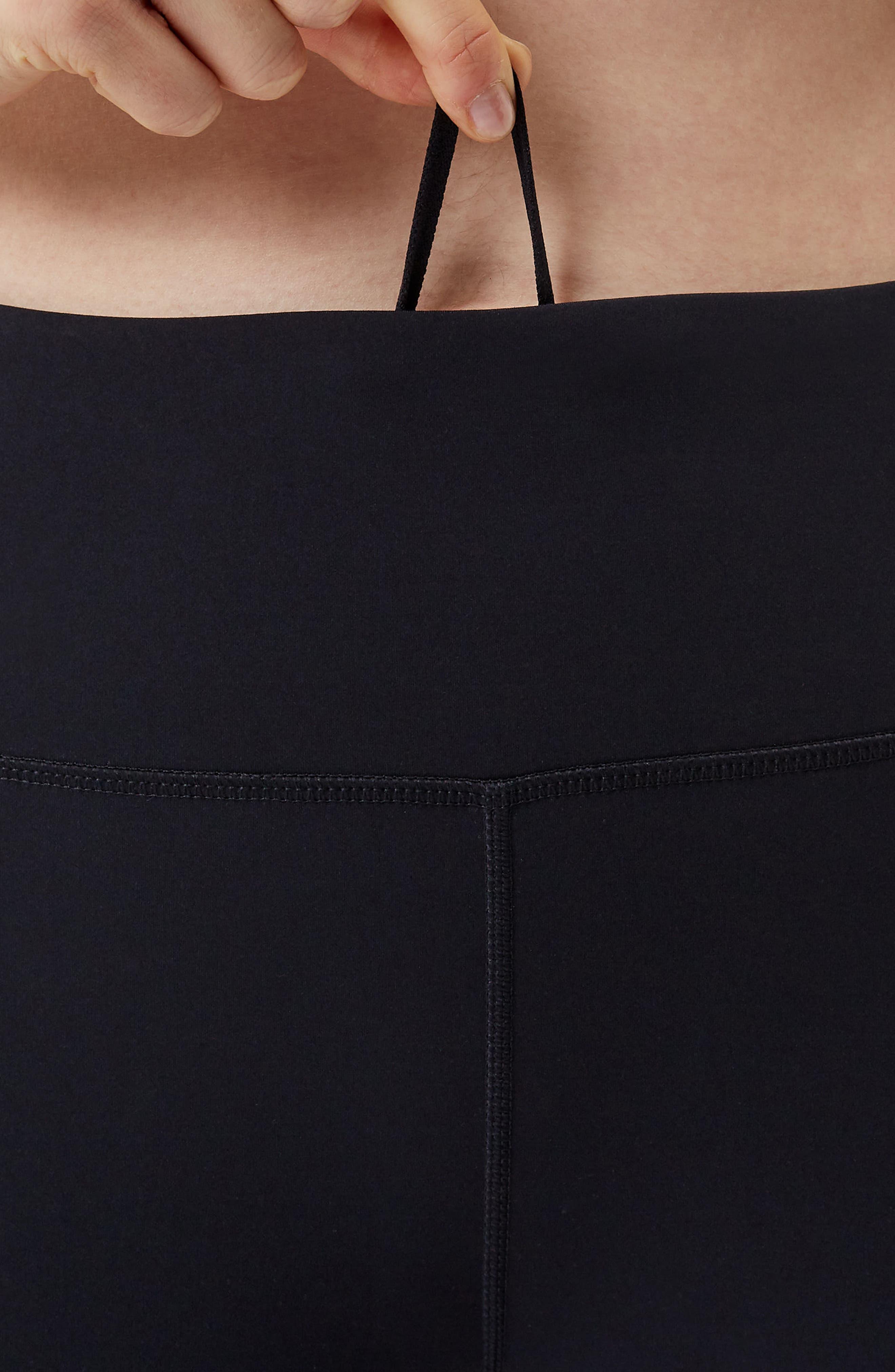 SWEATY BETTY, Power Workout Crop Leggings, Alternate thumbnail 7, color, BLACK