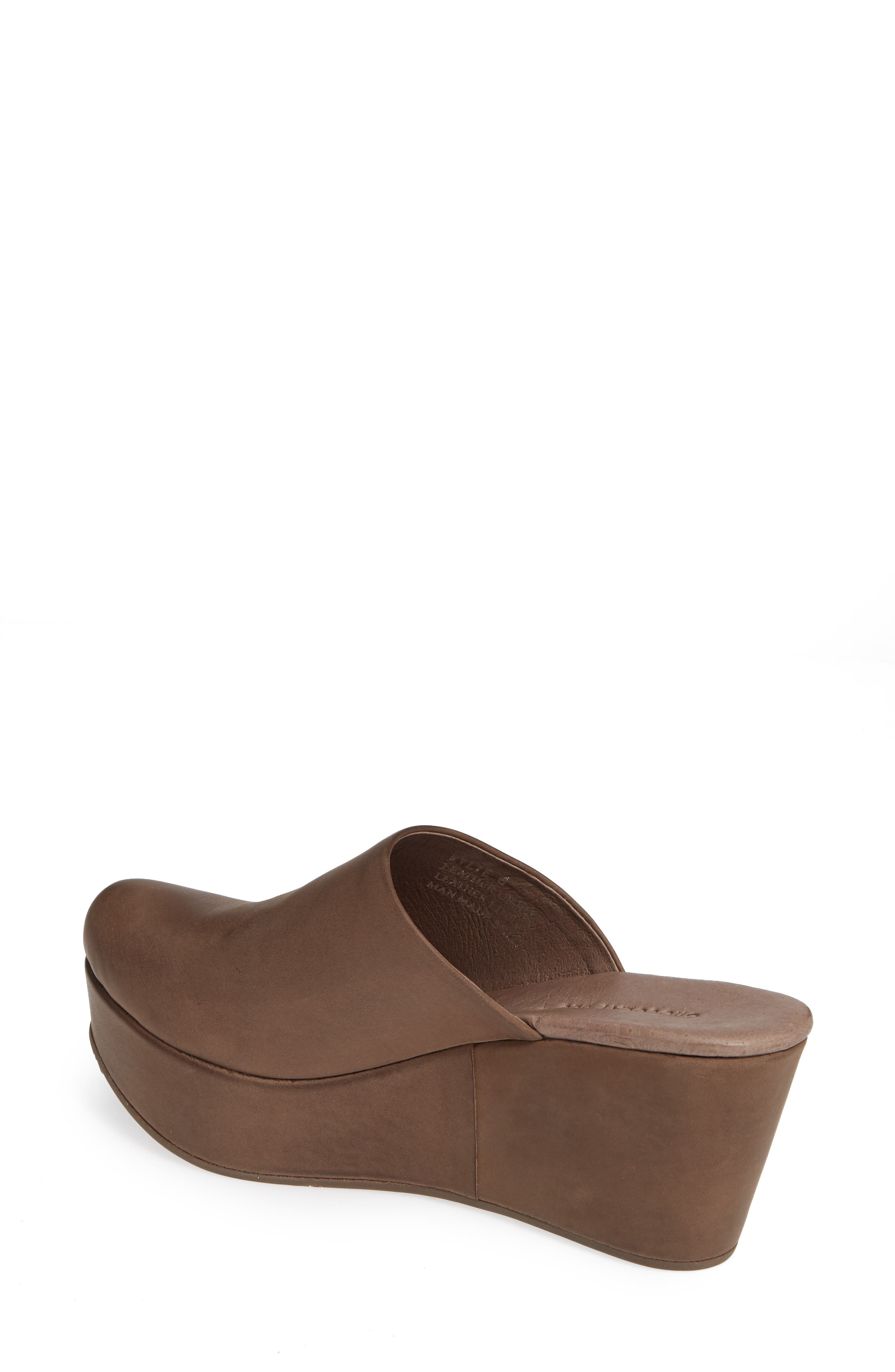 CHOCOLAT BLU, Wylie Wedge Mule, Alternate thumbnail 2, color, CHOCOLATE LEATHER