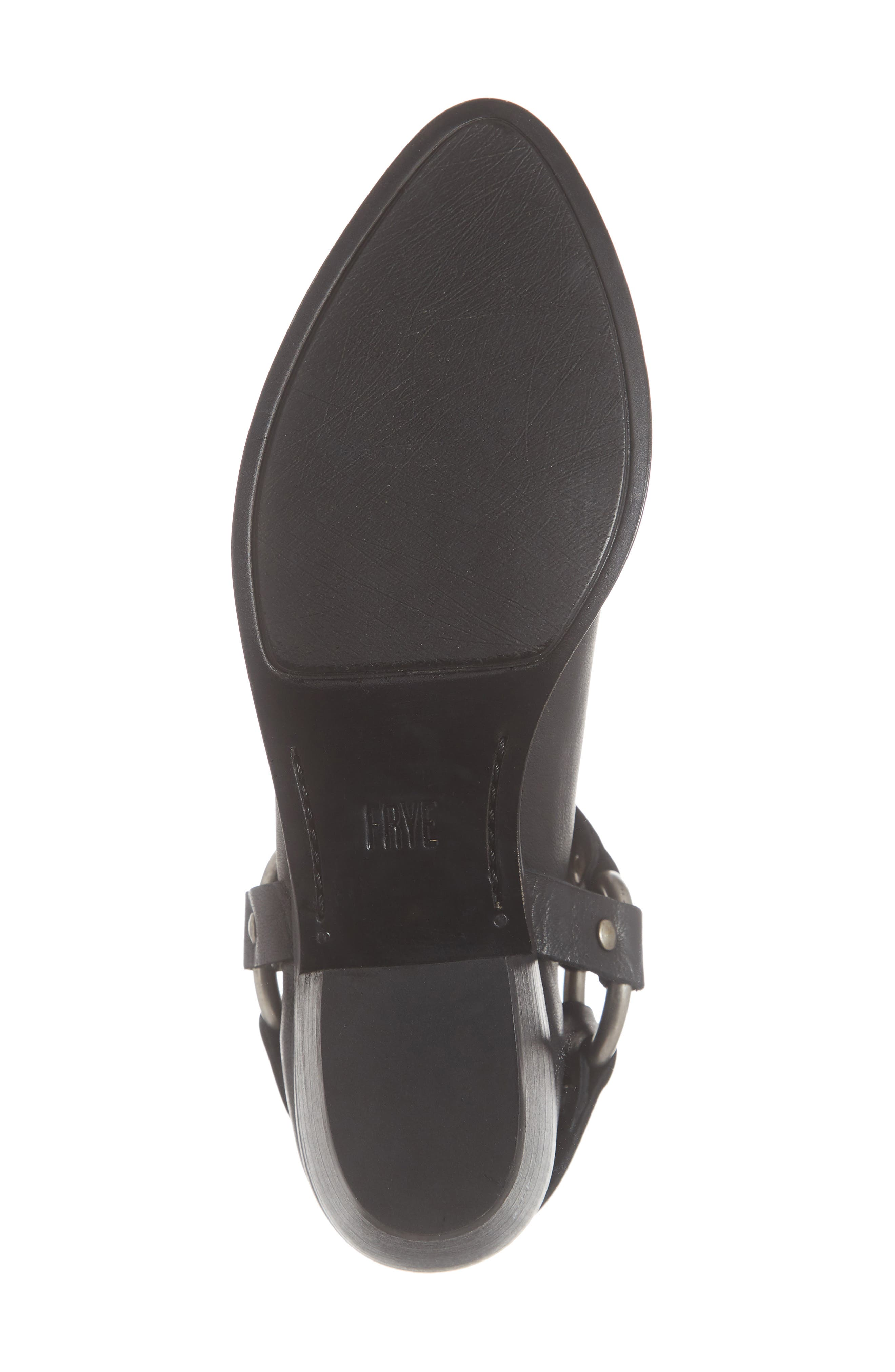 FRYE, Ray Low Harness Bootie, Alternate thumbnail 6, color, BLACK