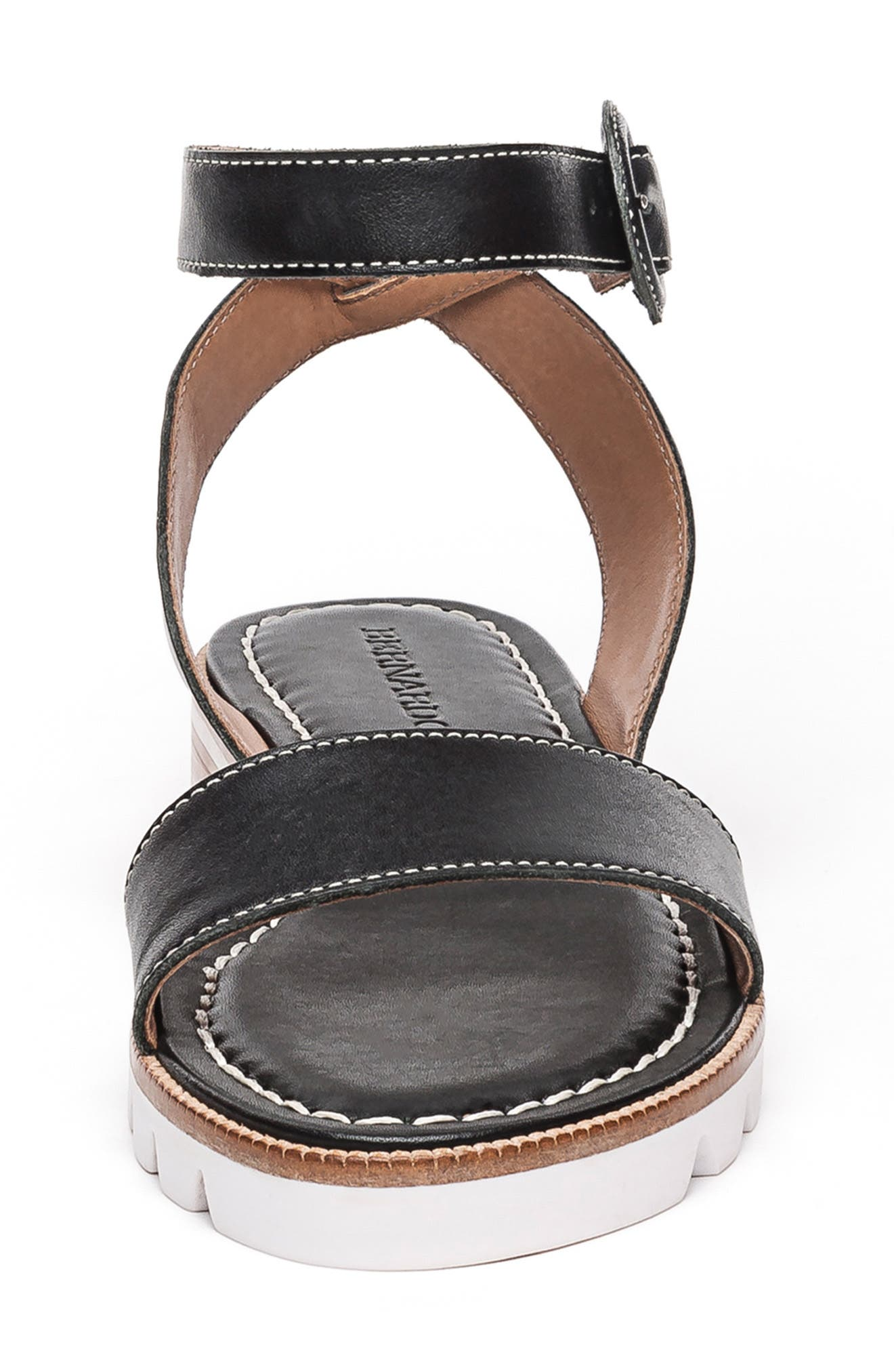 BERNARDO, Footwear Alexis Ankle Strap Sandal, Alternate thumbnail 4, color, BLACK