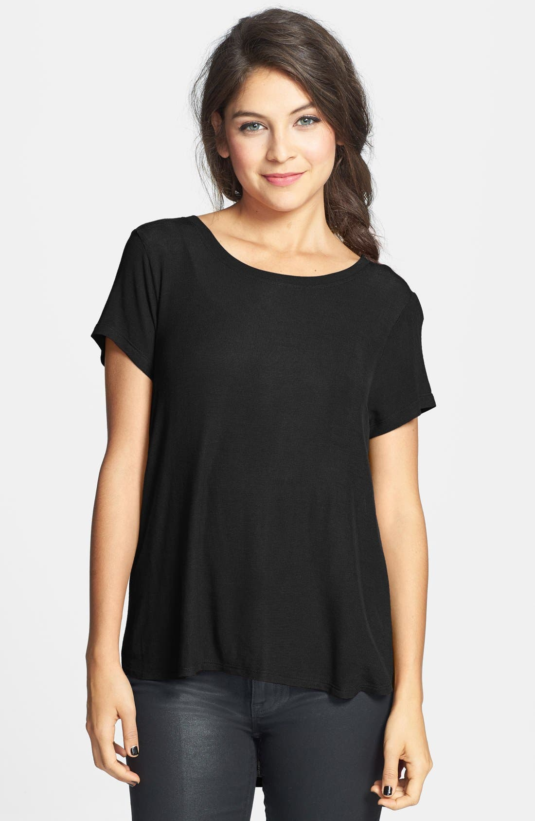 PST BY PROJECT SOCIAL T Project Social T Lightweight Crewneck Side Split Tee, Main, color, 001