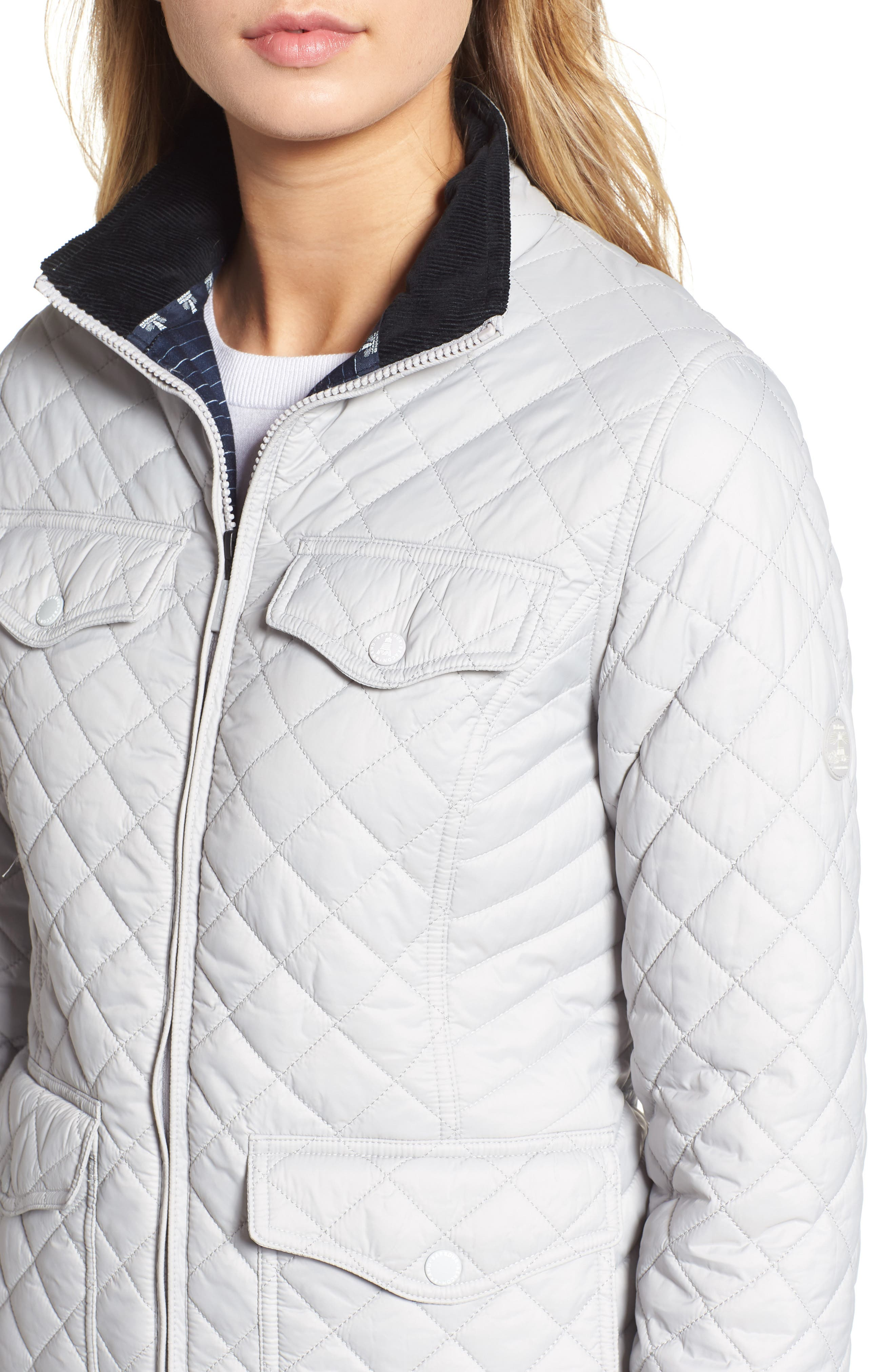 BARBOUR, Sailboat Quilted Jacket, Alternate thumbnail 5, color, 100