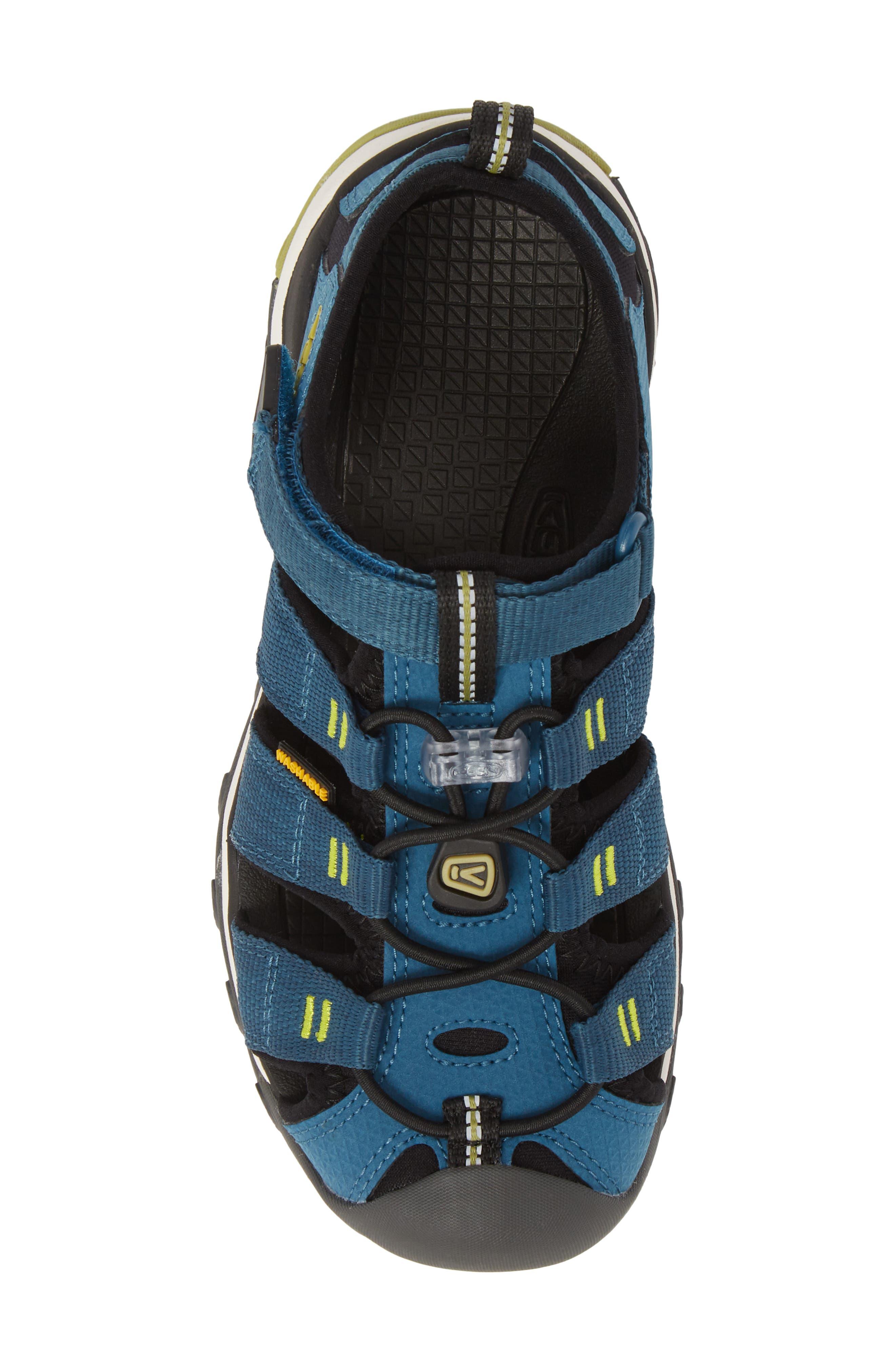 KEEN, Newport Neo H2 Water Friendly Sandal, Alternate thumbnail 5, color, LEGION BLUE/ MOSS