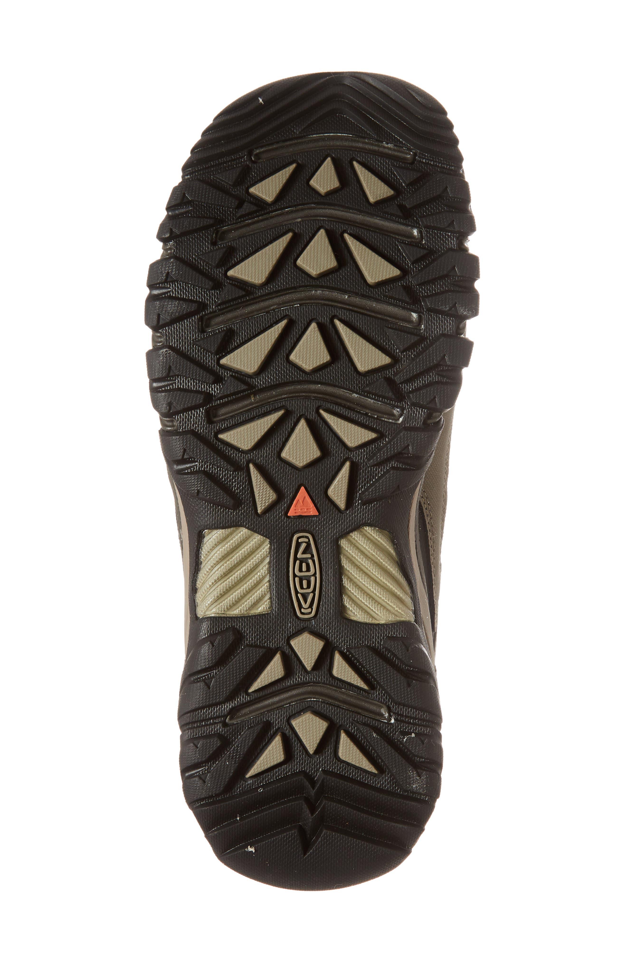 KEEN, Targhee EXP Mid Waterproof Hiking Boot, Alternate thumbnail 6, color, BUNGEE CORD/BRINDLE