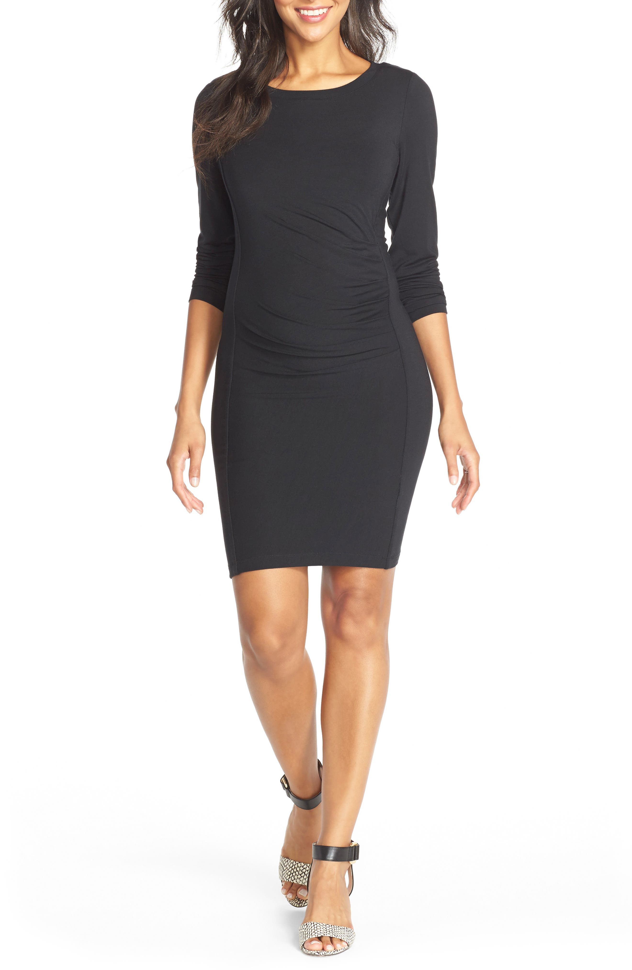 TART MATERNITY 'Whitney' Maternity Dress, Main, color, BLACK