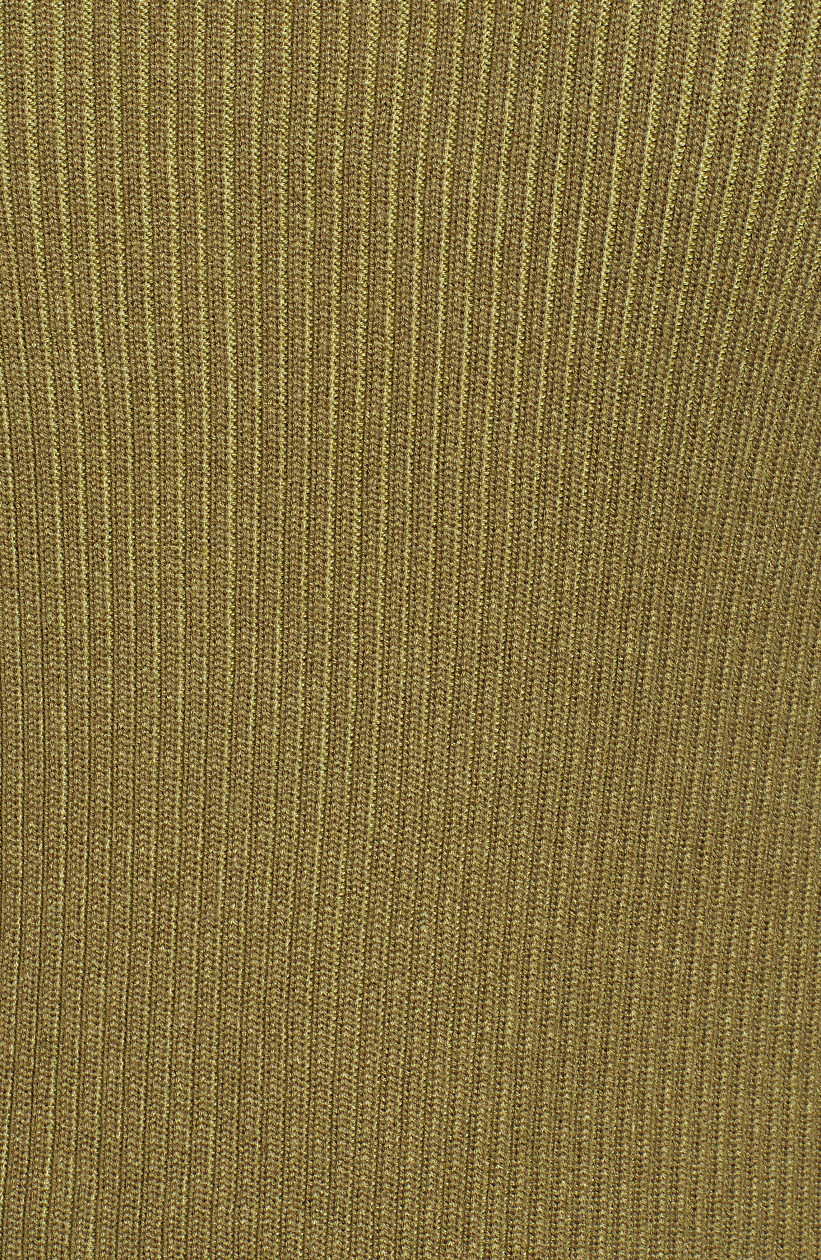 BP., Plaited Rib Sweater, Alternate thumbnail 6, color, OLIVE BURNT