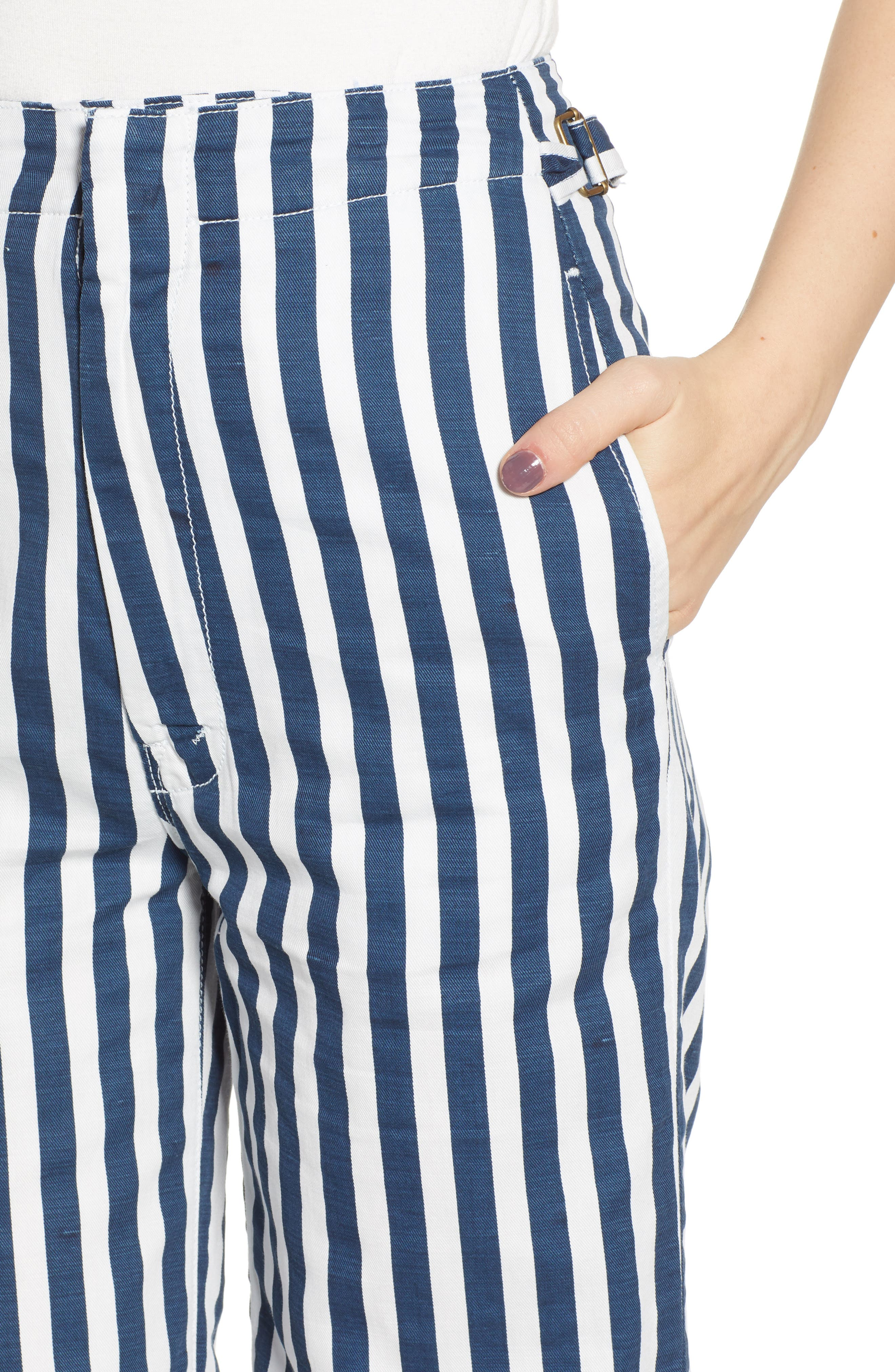 MOTHER, The Cinch Greaser Stripe Pants, Alternate thumbnail 5, color, 110