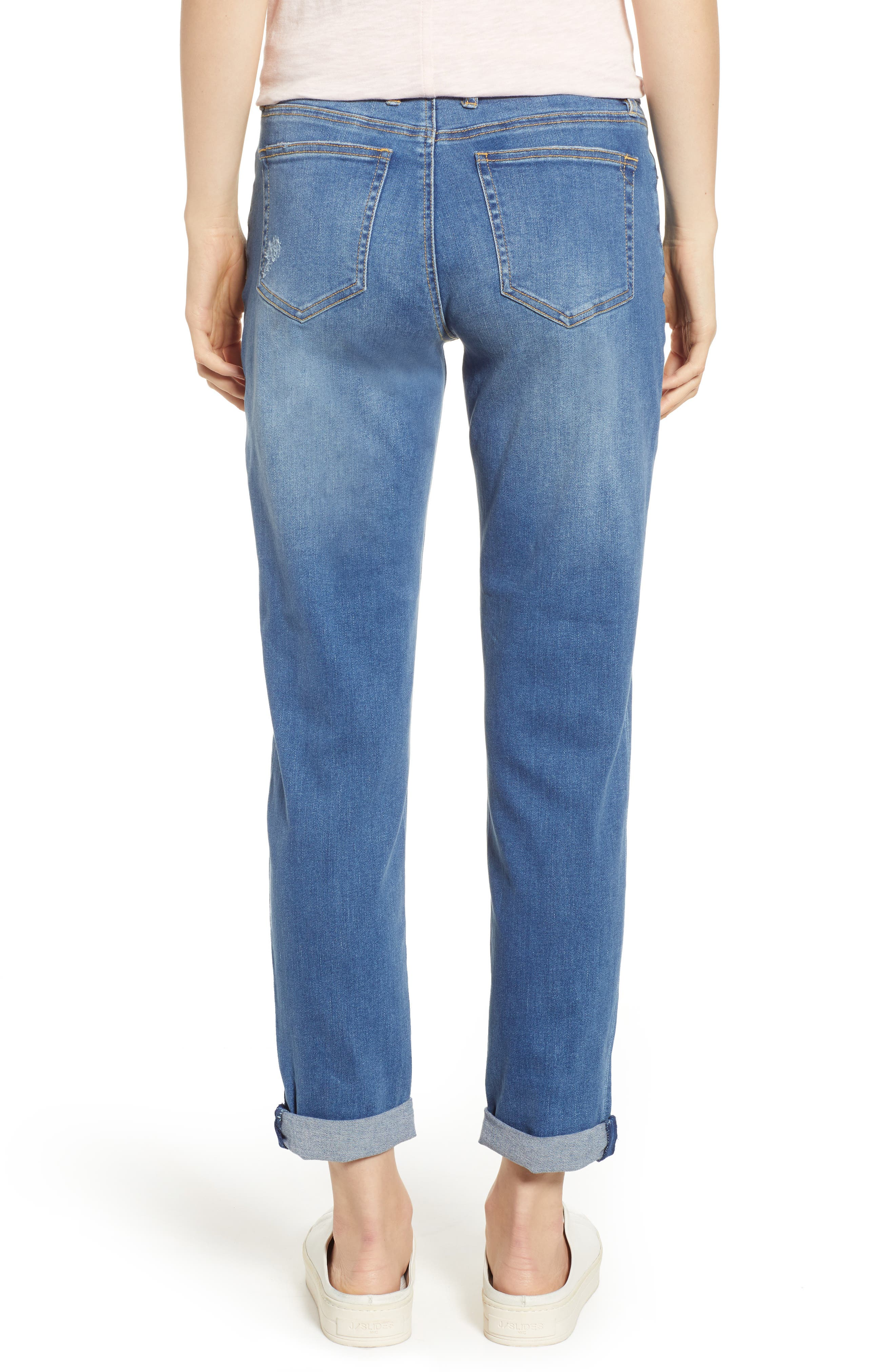 TOMMY BAHAMA, Tema Slim Boyfriend Jeans, Alternate thumbnail 2, color, DARK INDIGO WASH