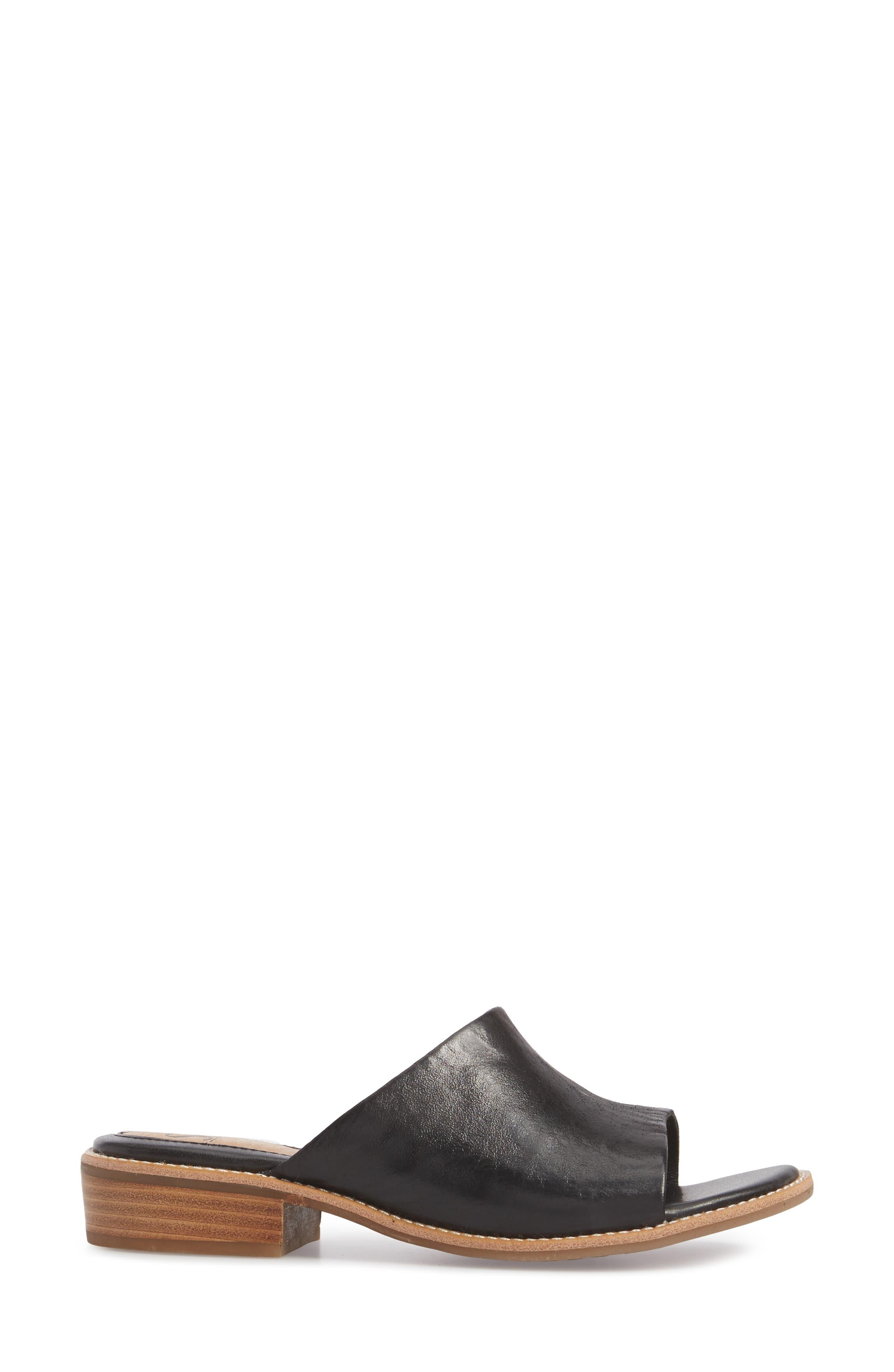 SÖFFT, Nola Slide Sandal, Alternate thumbnail 3, color, 001