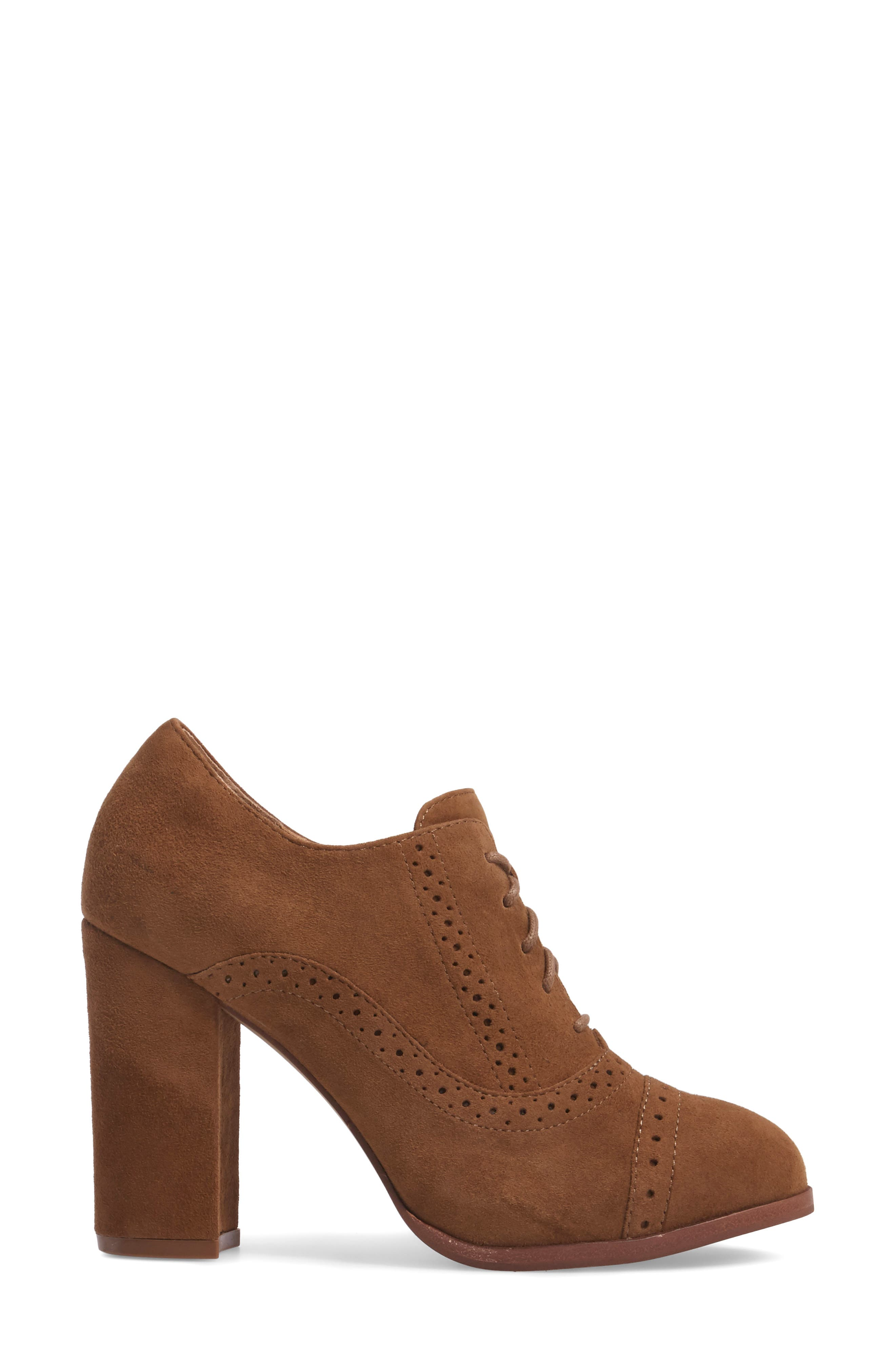 ISOLÁ, Holli Oxford Pump, Alternate thumbnail 3, color, LIGHT BROWN SUEDE