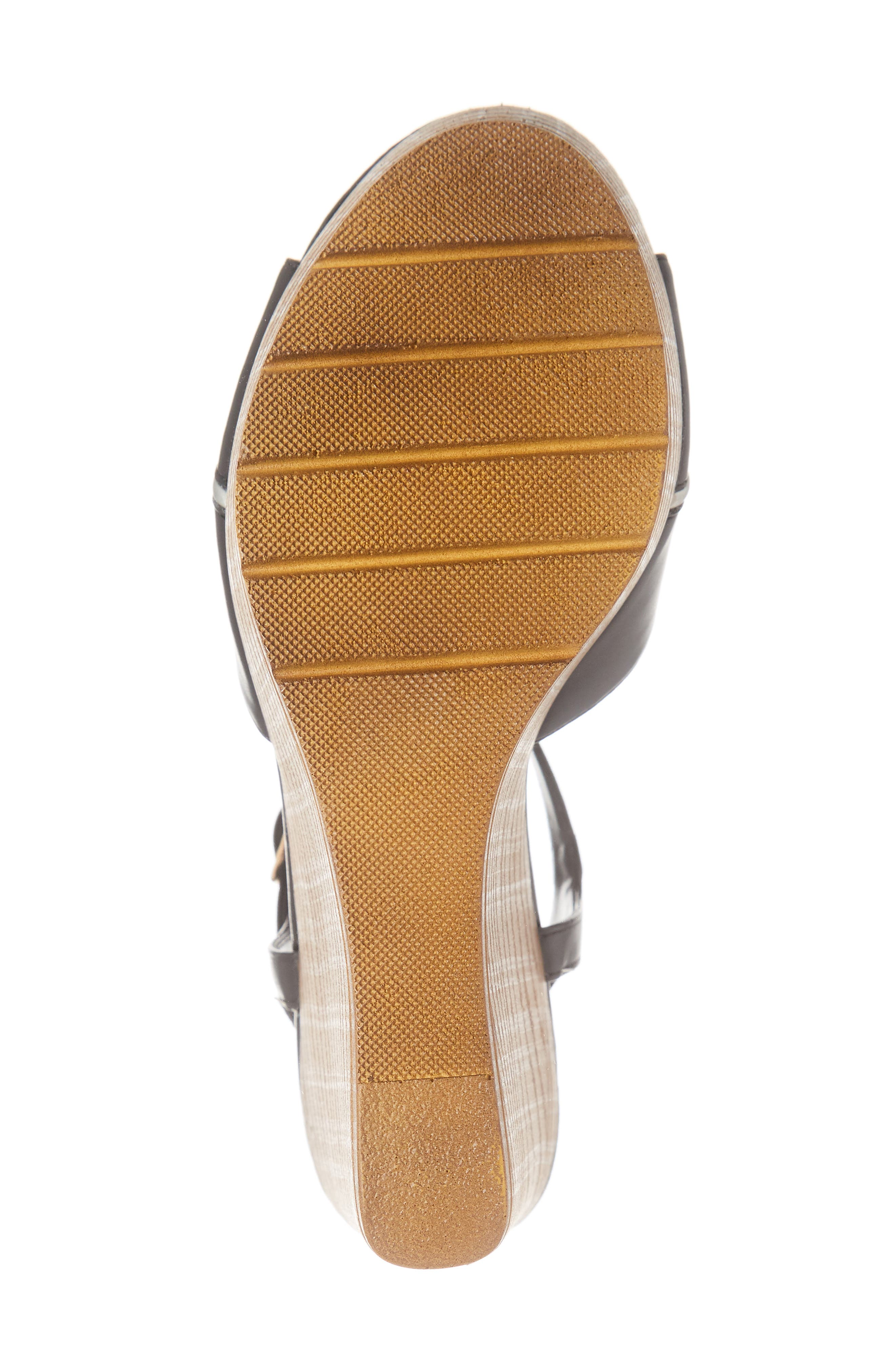 CALLISTO, Masalla Platform Wedge Sandal, Alternate thumbnail 6, color, BLACK FAUX LEATHER