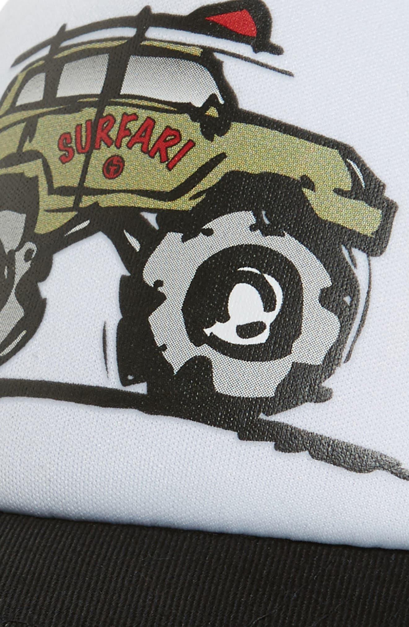 GROM SQUAD, Surfari Trucker Hat, Alternate thumbnail 3, color, CAMO/ WHITE