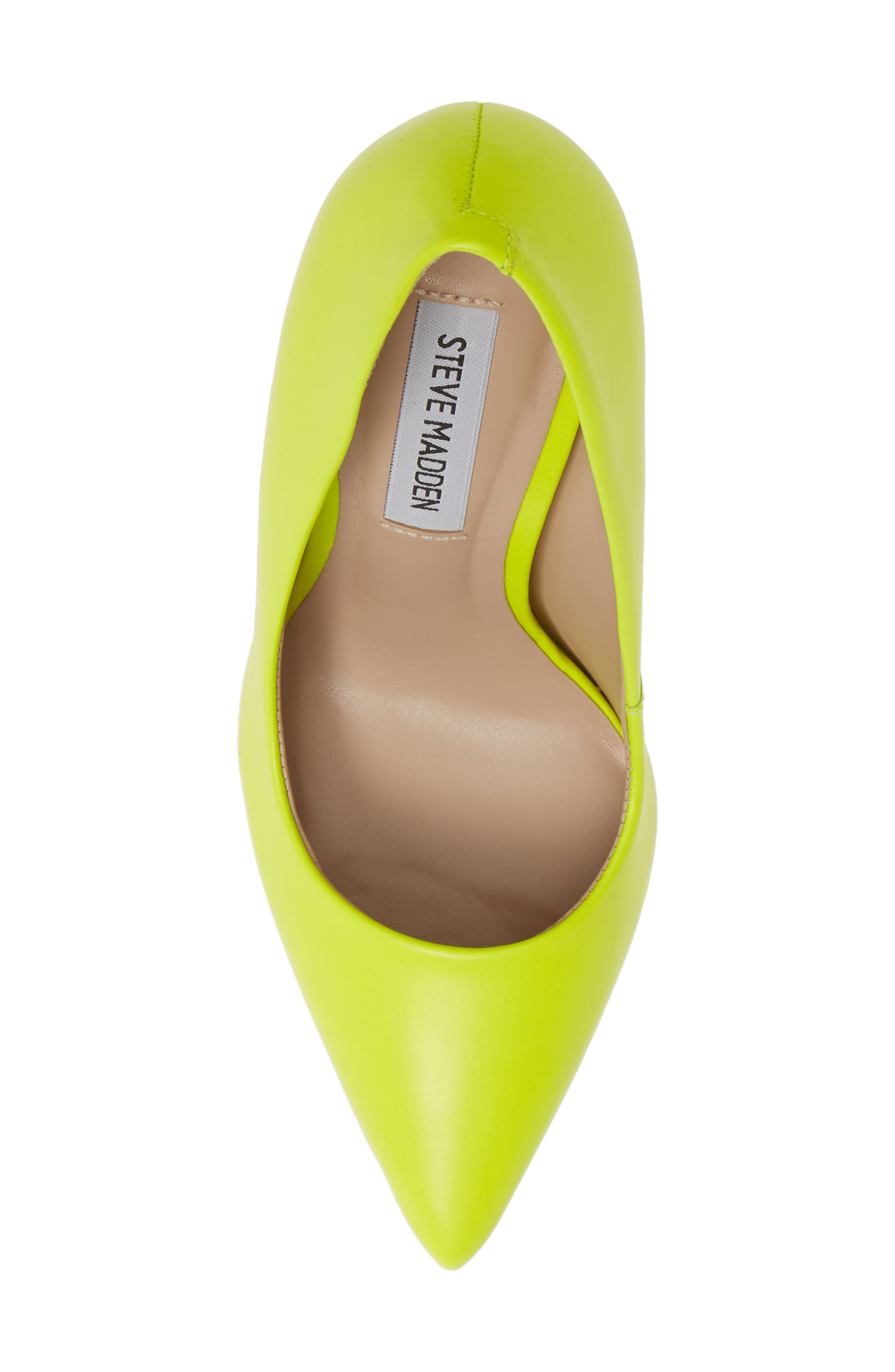 STEVE MADDEN, Daisie Pointy-Toe Pump, Alternate thumbnail 5, color, LIME