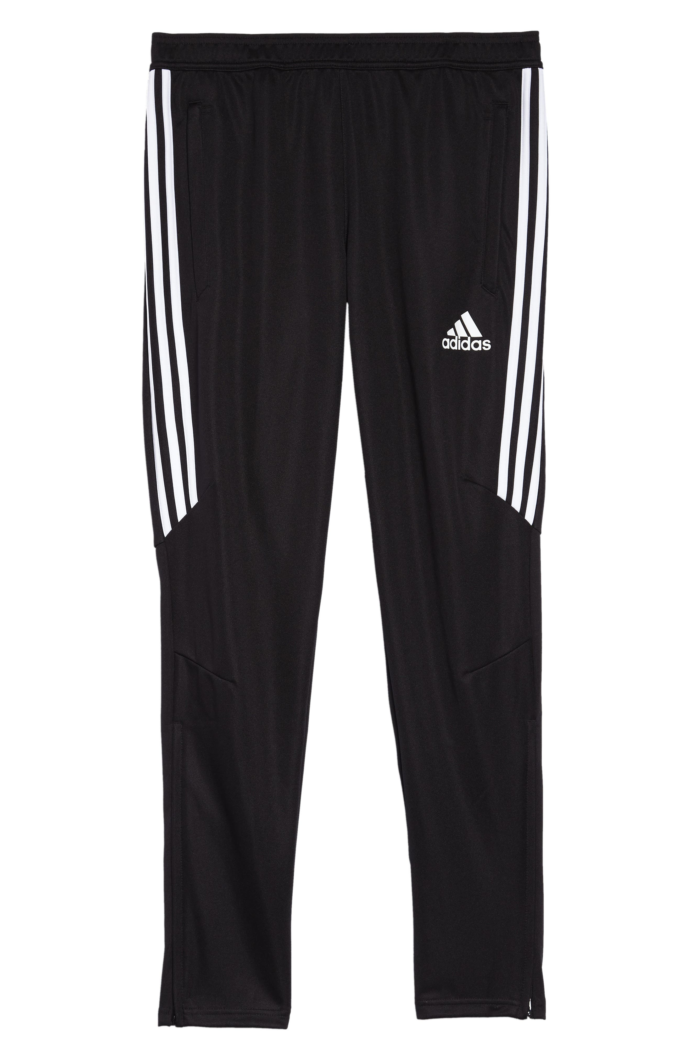 ADIDAS, Tiro 17 Training Pants, Alternate thumbnail 2, color, BLACK/ WHITE/ WHITE