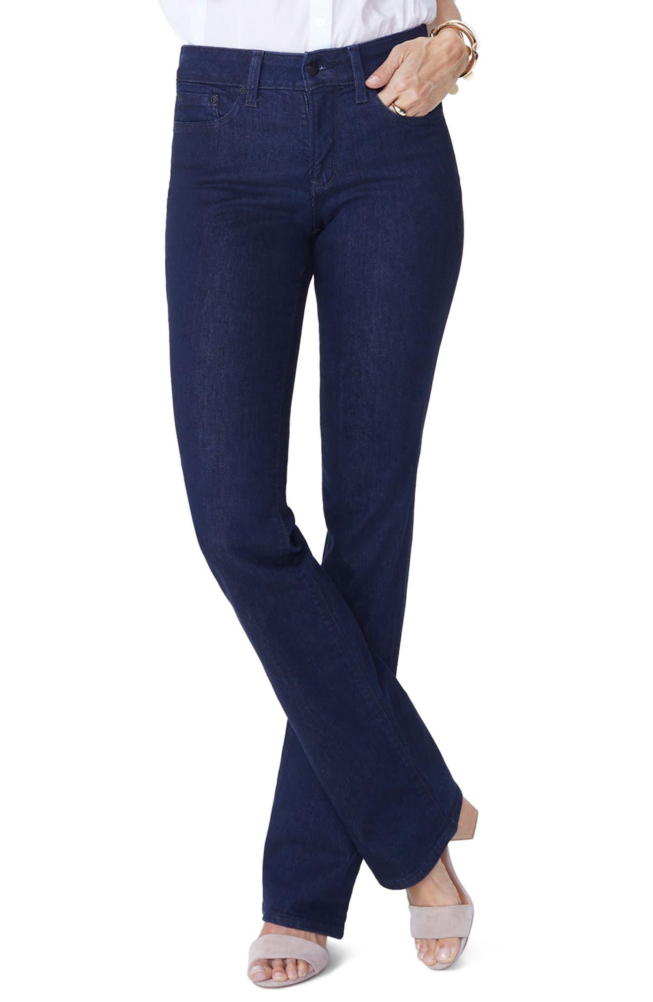 NYDJ, Barbara High Waist Stretch Bootcut Jeans, Main thumbnail 1, color, RINSE