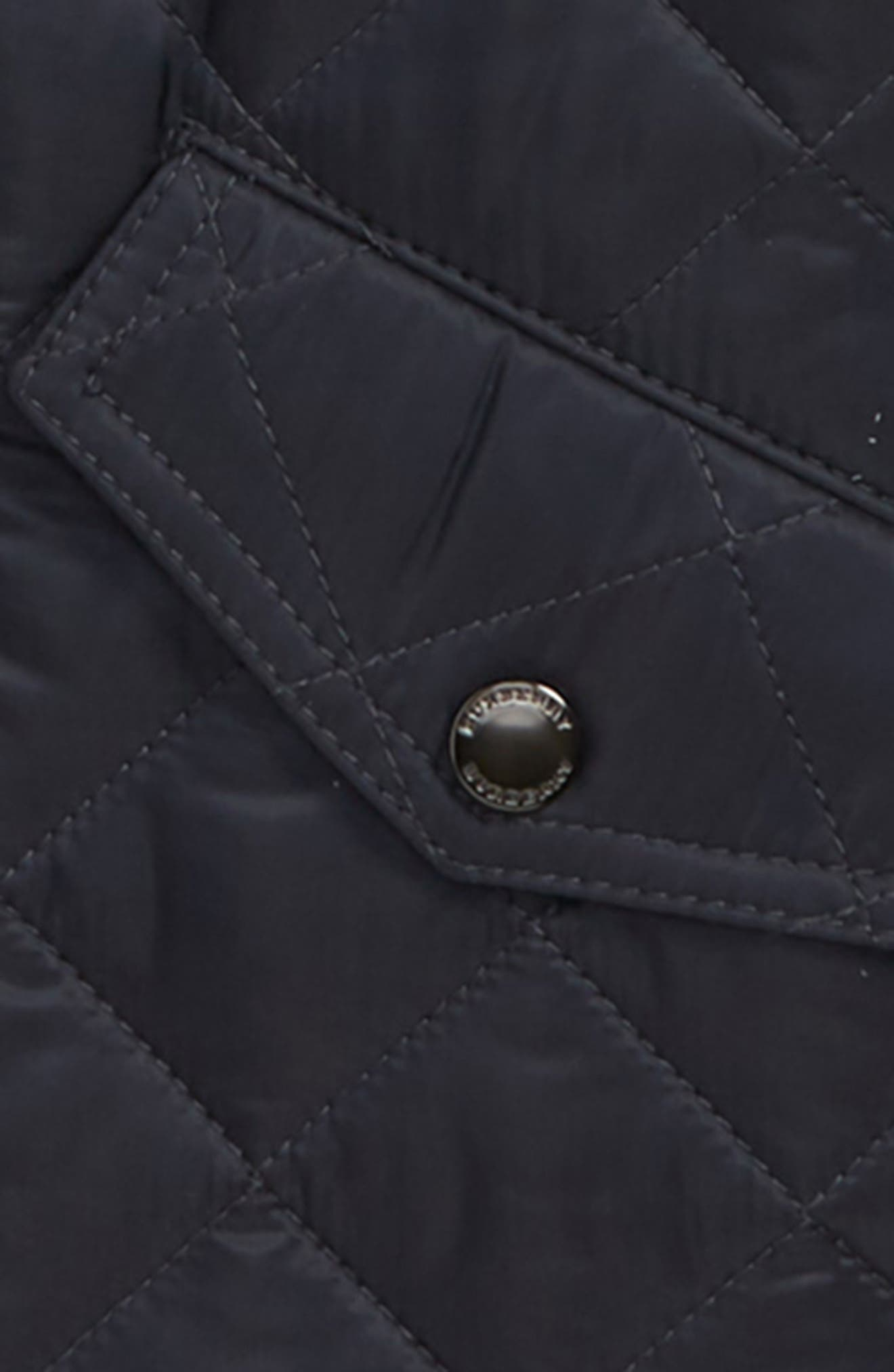 BURBERRY, Ilana Quilted Water Repellent Jacket, Alternate thumbnail 2, color, BRIGHT NAVY