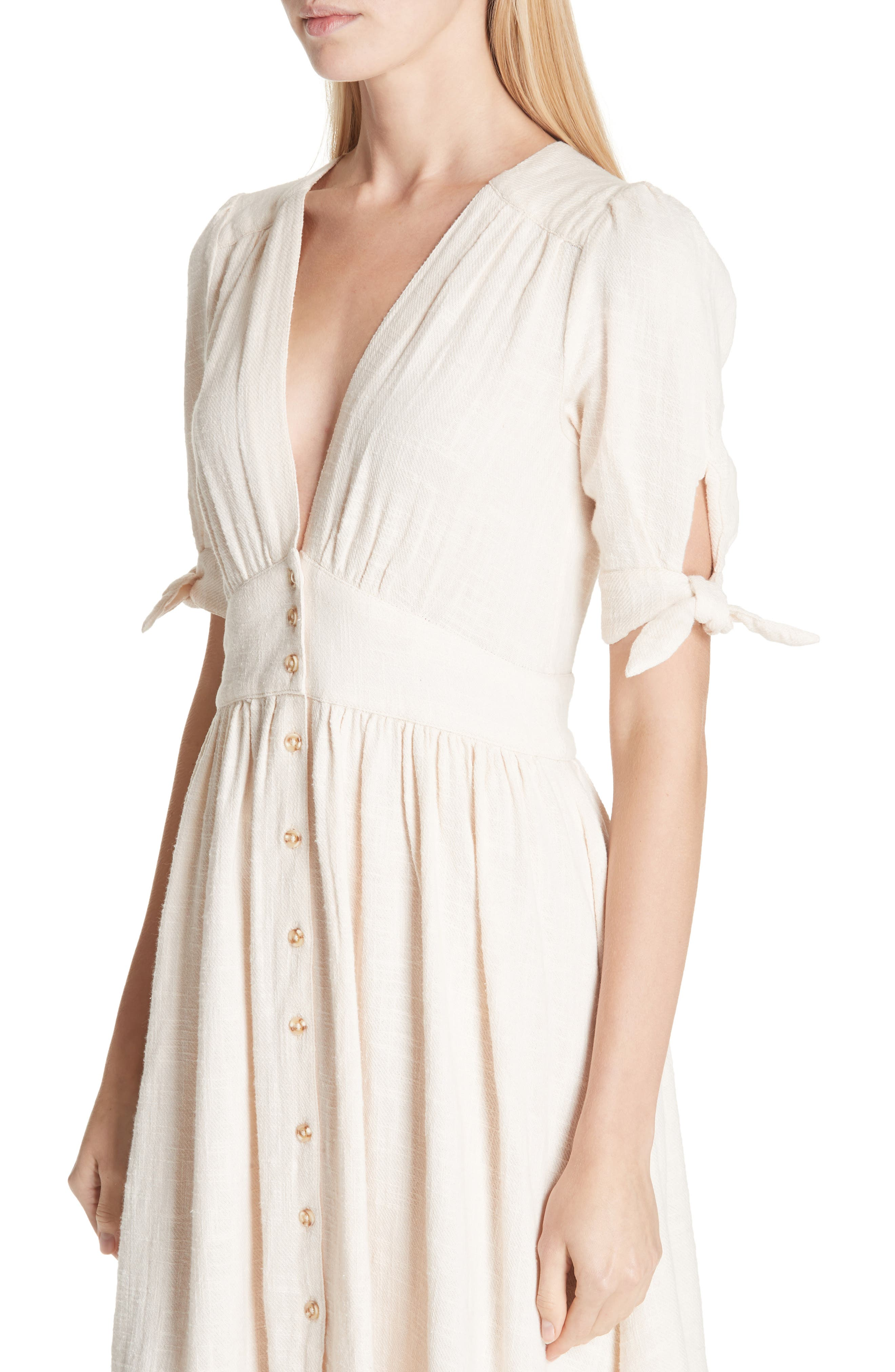 FREE PEOPLE, Love of My Life Midi Dress, Alternate thumbnail 5, color, IVORY