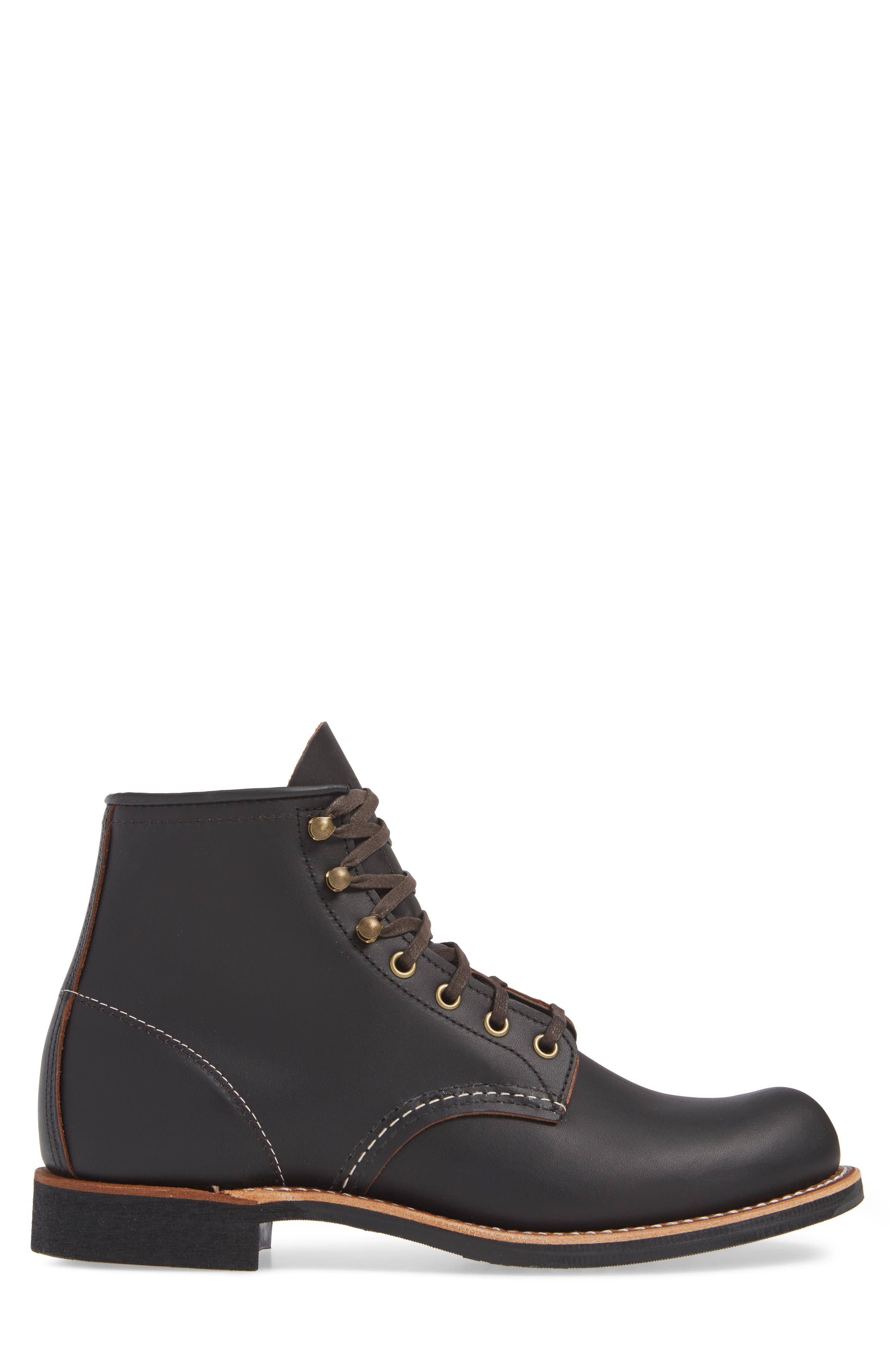 RED WING, Blacksmith Boot, Alternate thumbnail 3, color, BLACK LEATHER