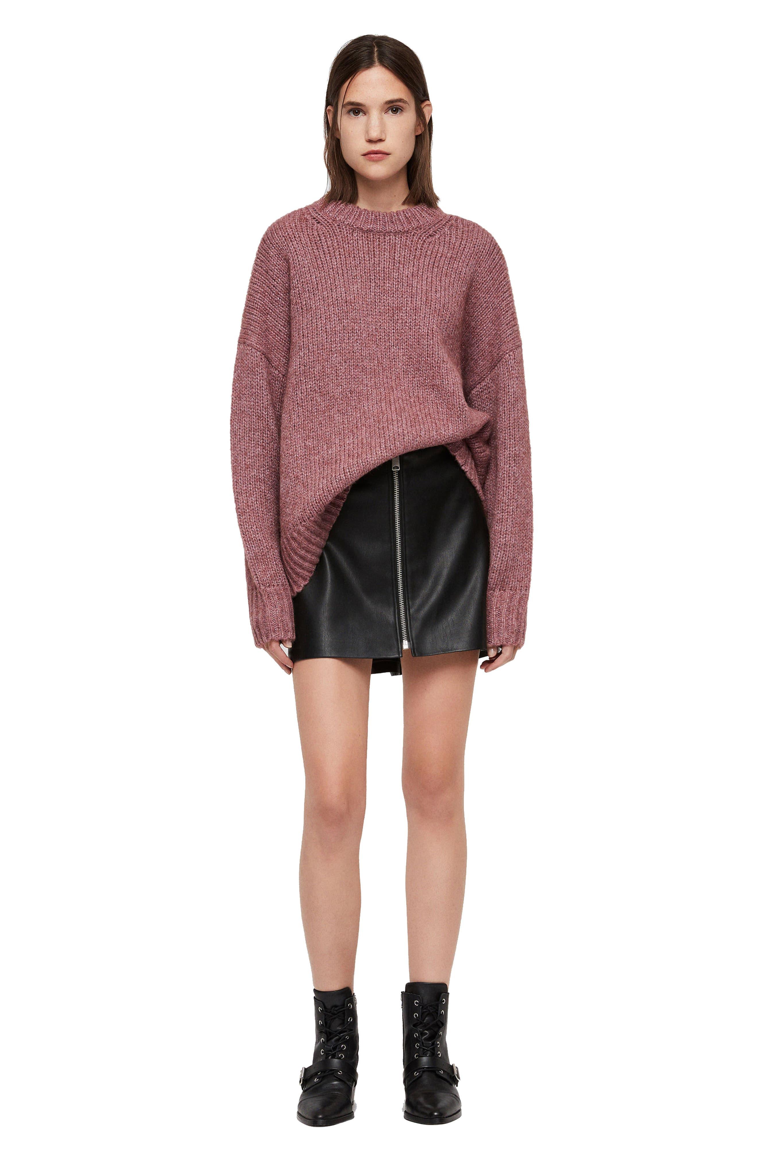 ALLSAINTS, Gemini Metallic Knit Sweater, Alternate thumbnail 6, color, 653