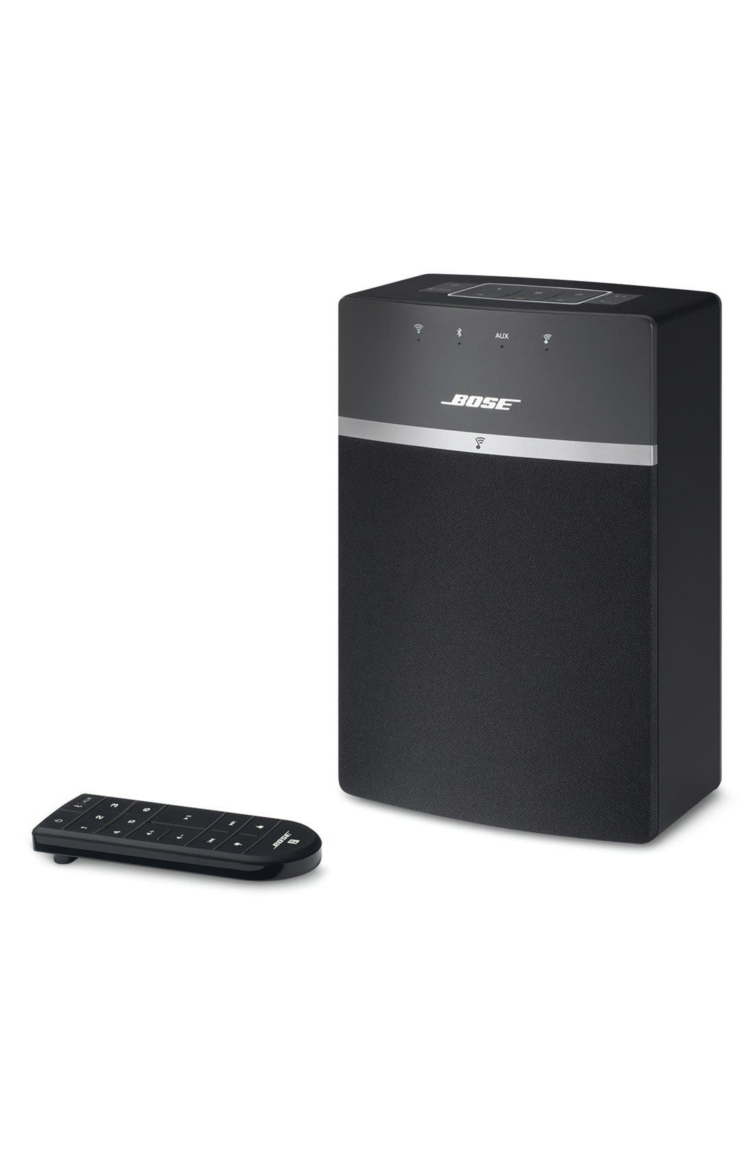BOSE<SUP>®</SUP>, SoundTouch<sup>®</sup> 10 Wireless Music System, Main thumbnail 1, color, BLACK