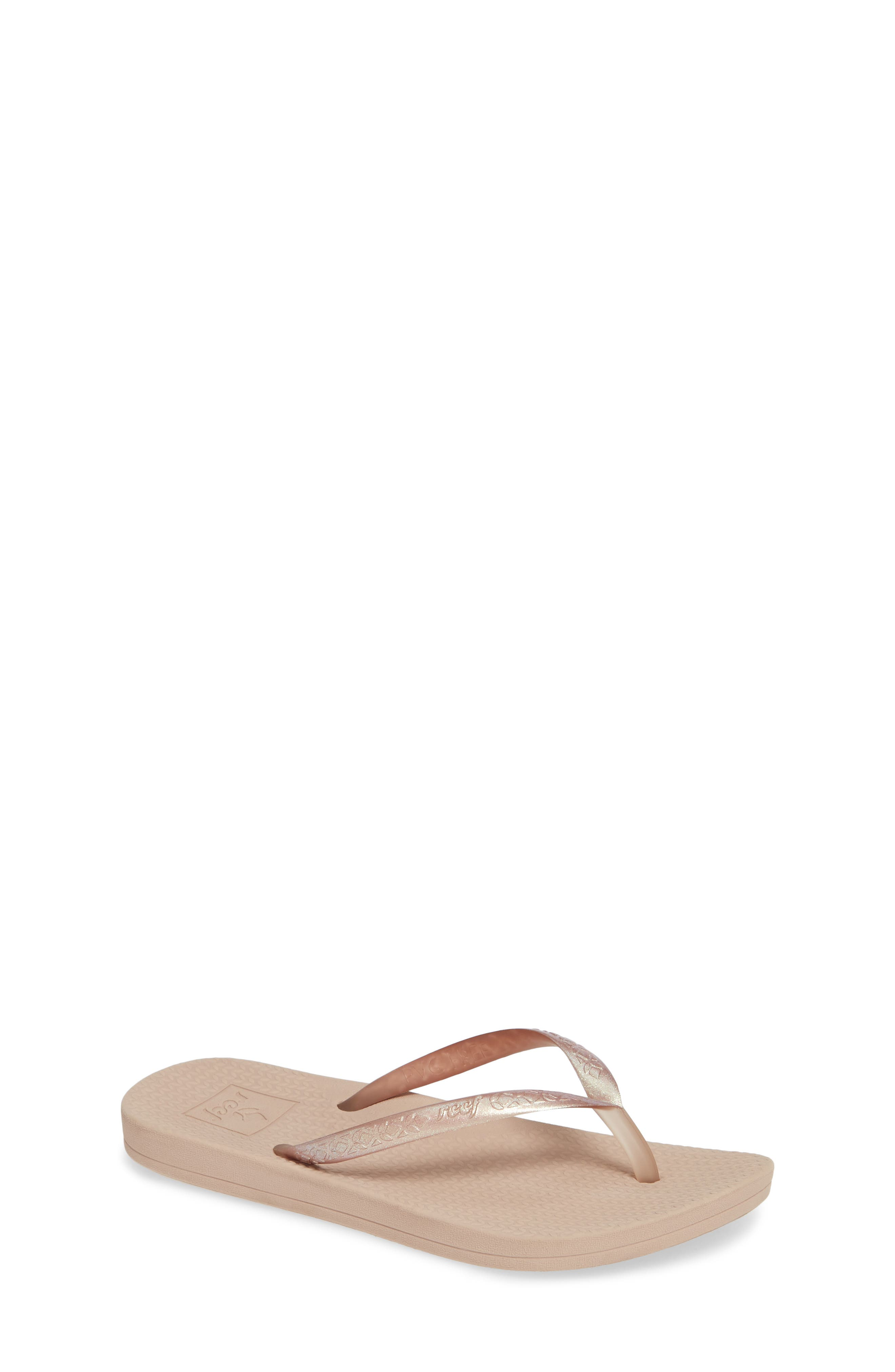REEF, Escape Lux Metals Flip Flop, Main thumbnail 1, color, ROSE GOLD