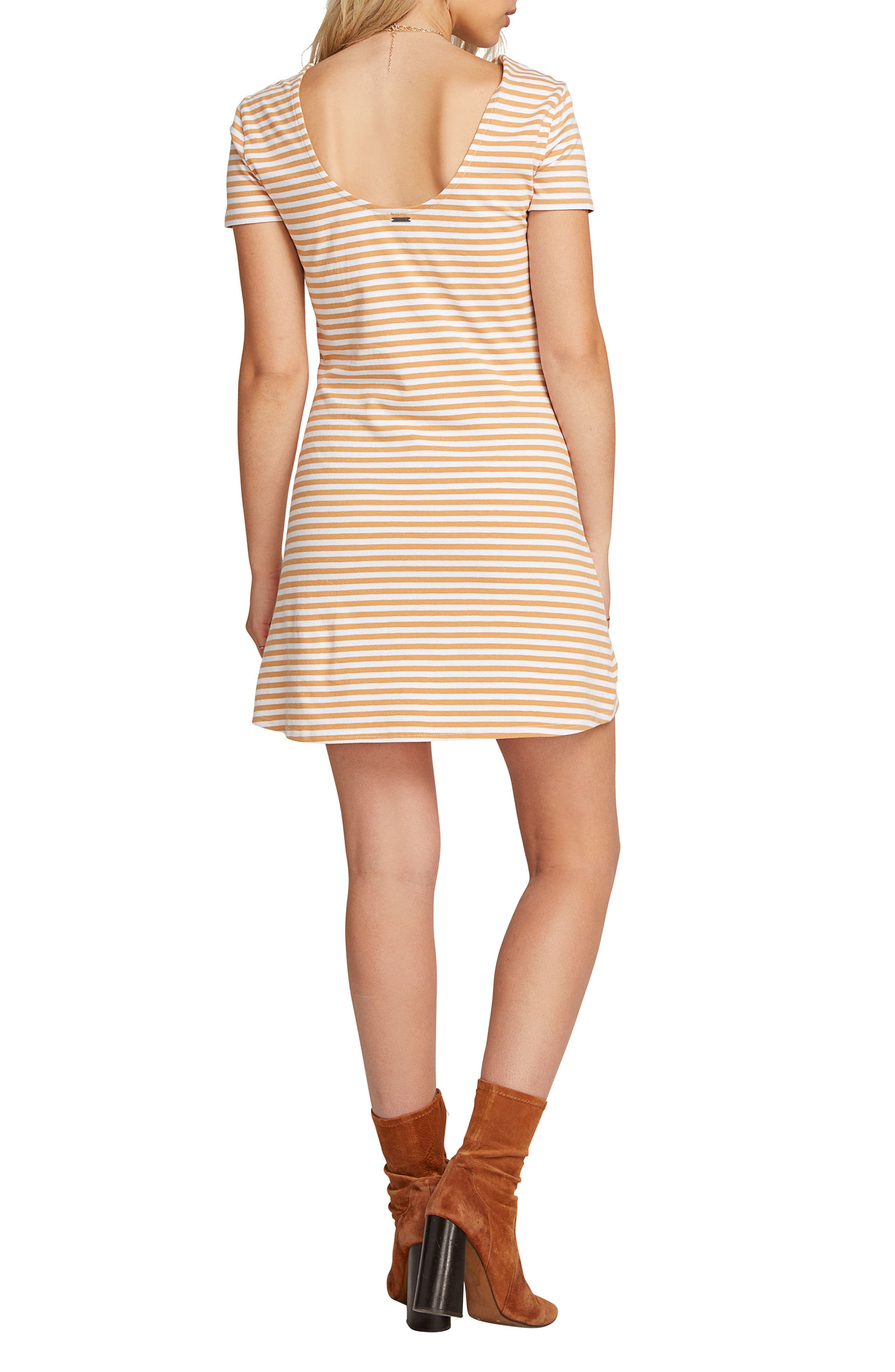 VOLCOM, Looking Out Stripe T-Shirt Dress, Alternate thumbnail 2, color, 250